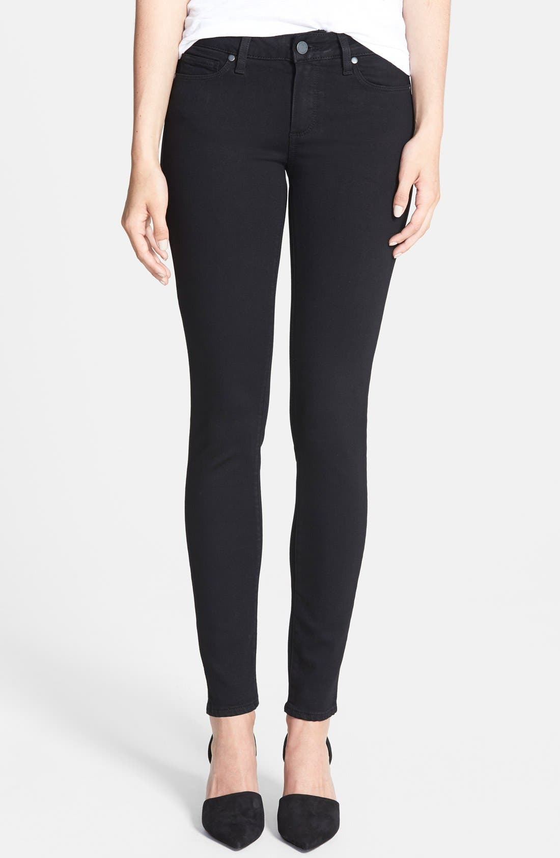Main Image - PAIGE Transcend - Verdugo Ultra Skinny Jeans (Black Shadow)