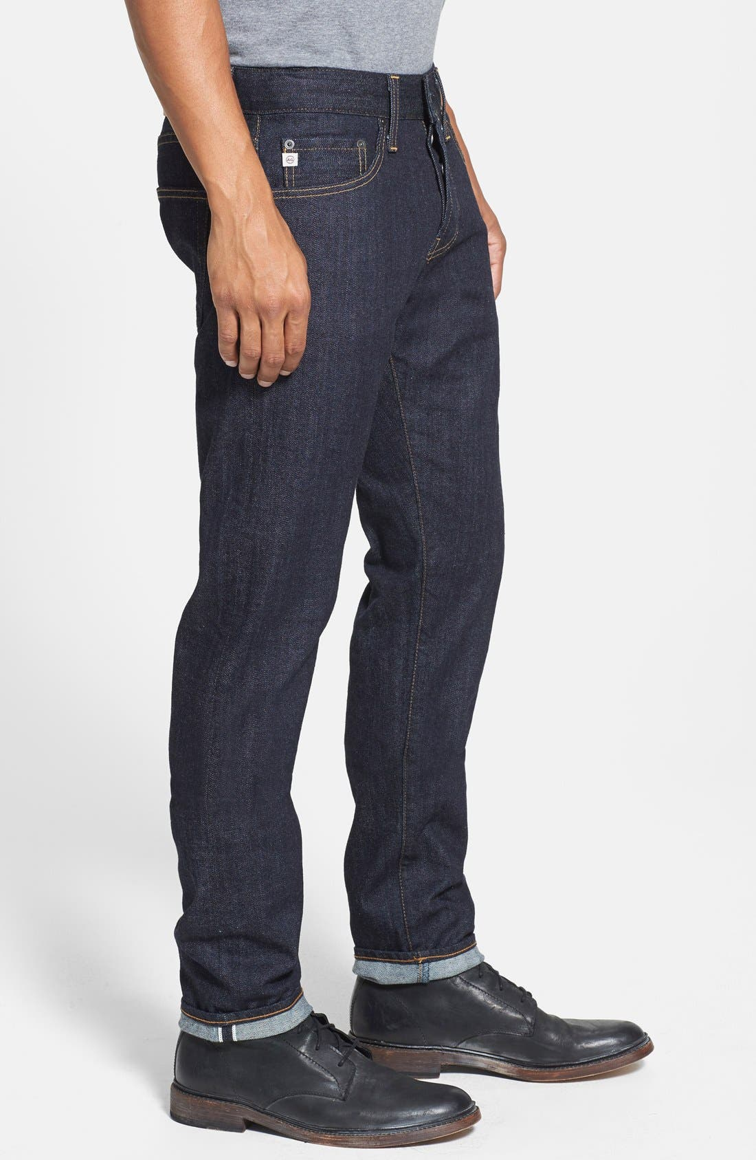 Alternate Image 3  - AG 'Dylan' Skinny Fit Selvedge Jeans (Alpha)