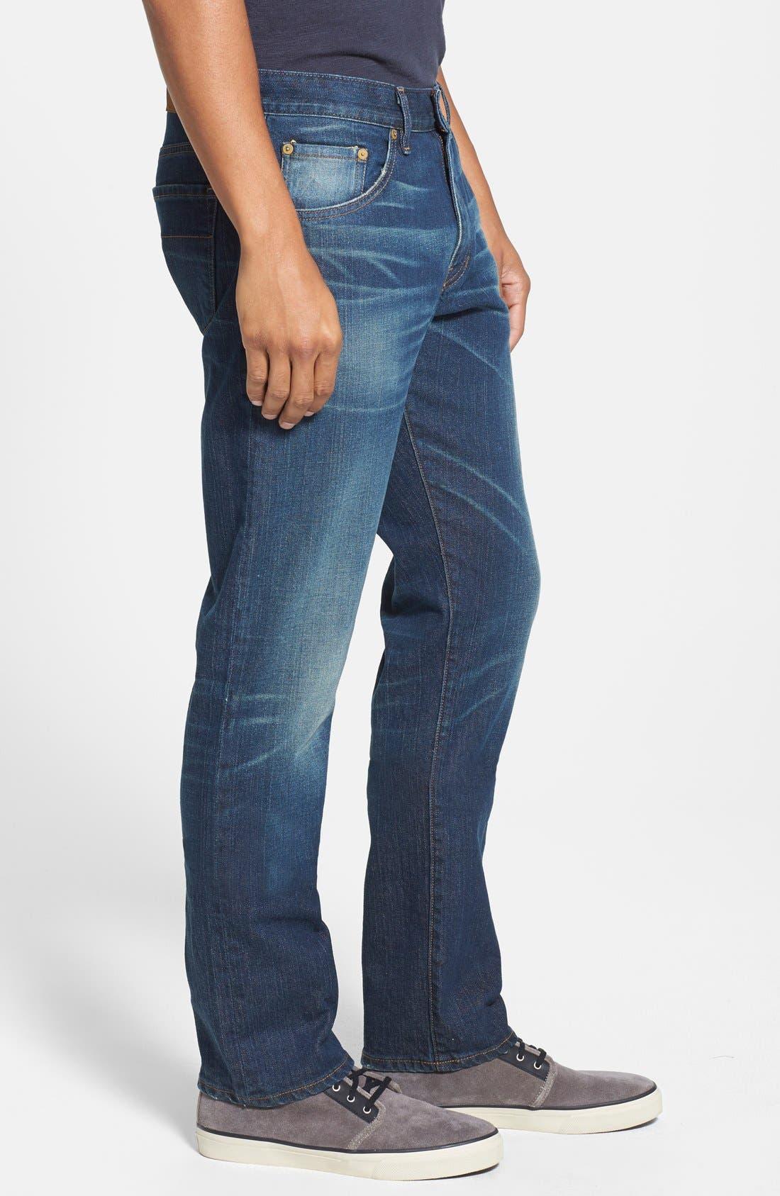 'Jones' Slim Straight Fit Jeans,                             Alternate thumbnail 3, color,                             Camp