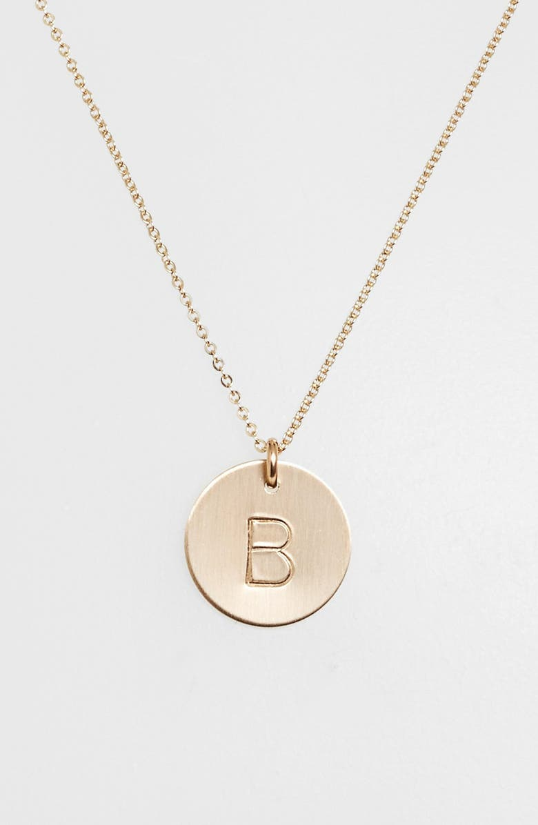Nashelle 14k gold fill initial disc necklace nordstrom 14k gold fill initial disc necklace main aloadofball Image collections