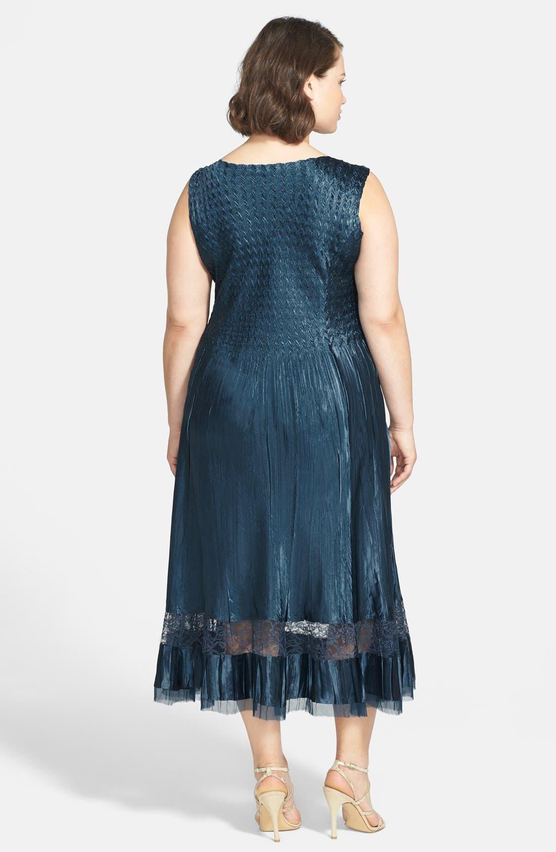 Alternate Image 2  - Komarov Embellished Charmeuse Dress & Chiffon Jacket (Plus Size)