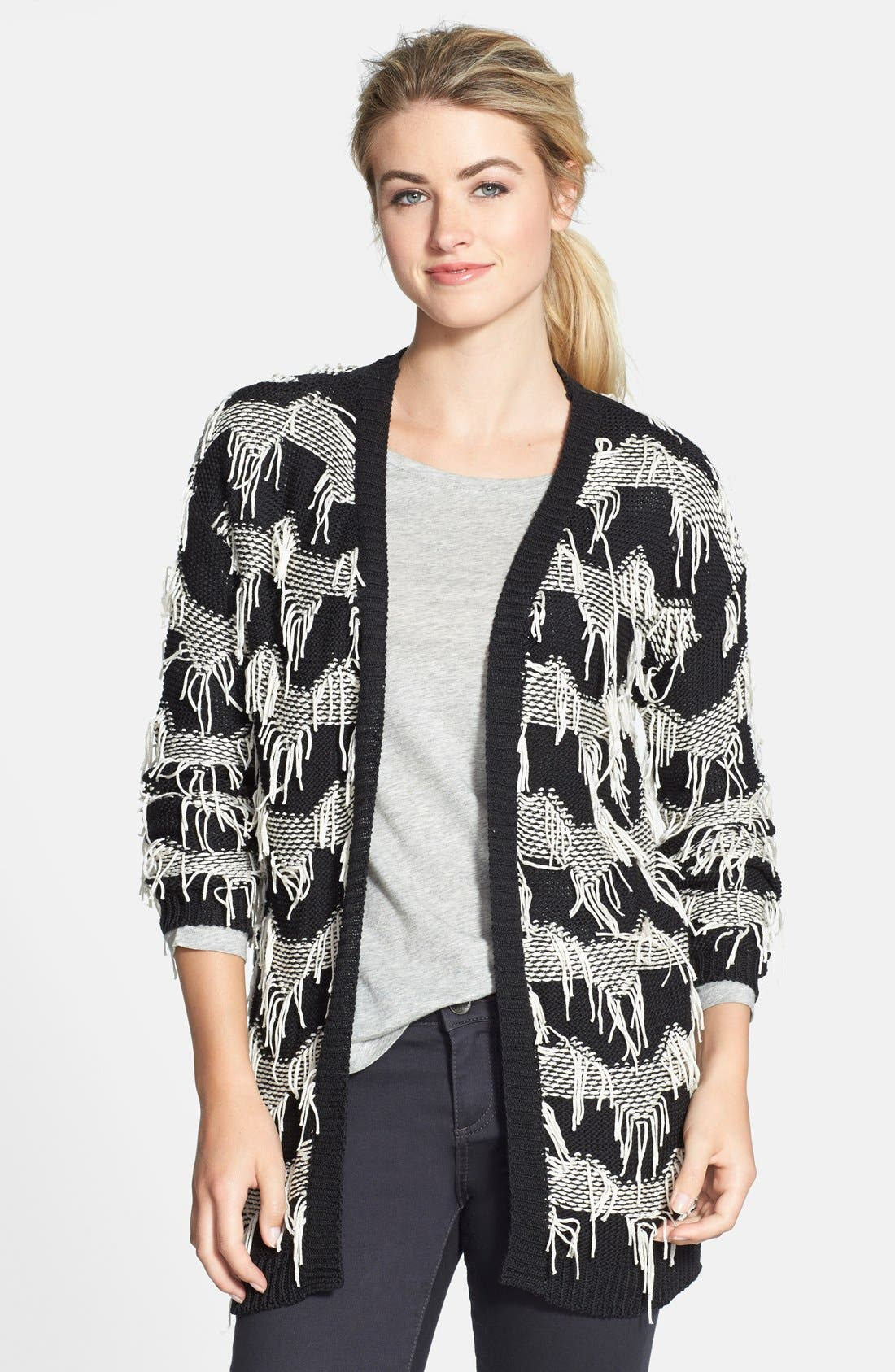 Alternate Image 1 Selected - Olive & Oak Fringe Detail Cardigan