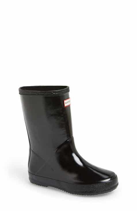 429725260 Hunter 'First Gloss' Rain Boot (Walker, Toddler & Little Kid)