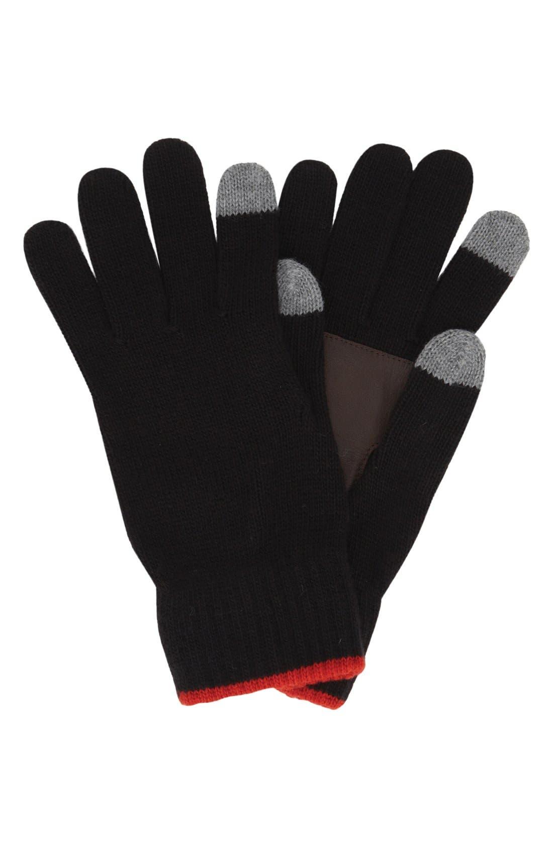 Main Image - Original Penguin 'Bordwell' Knit Gloves