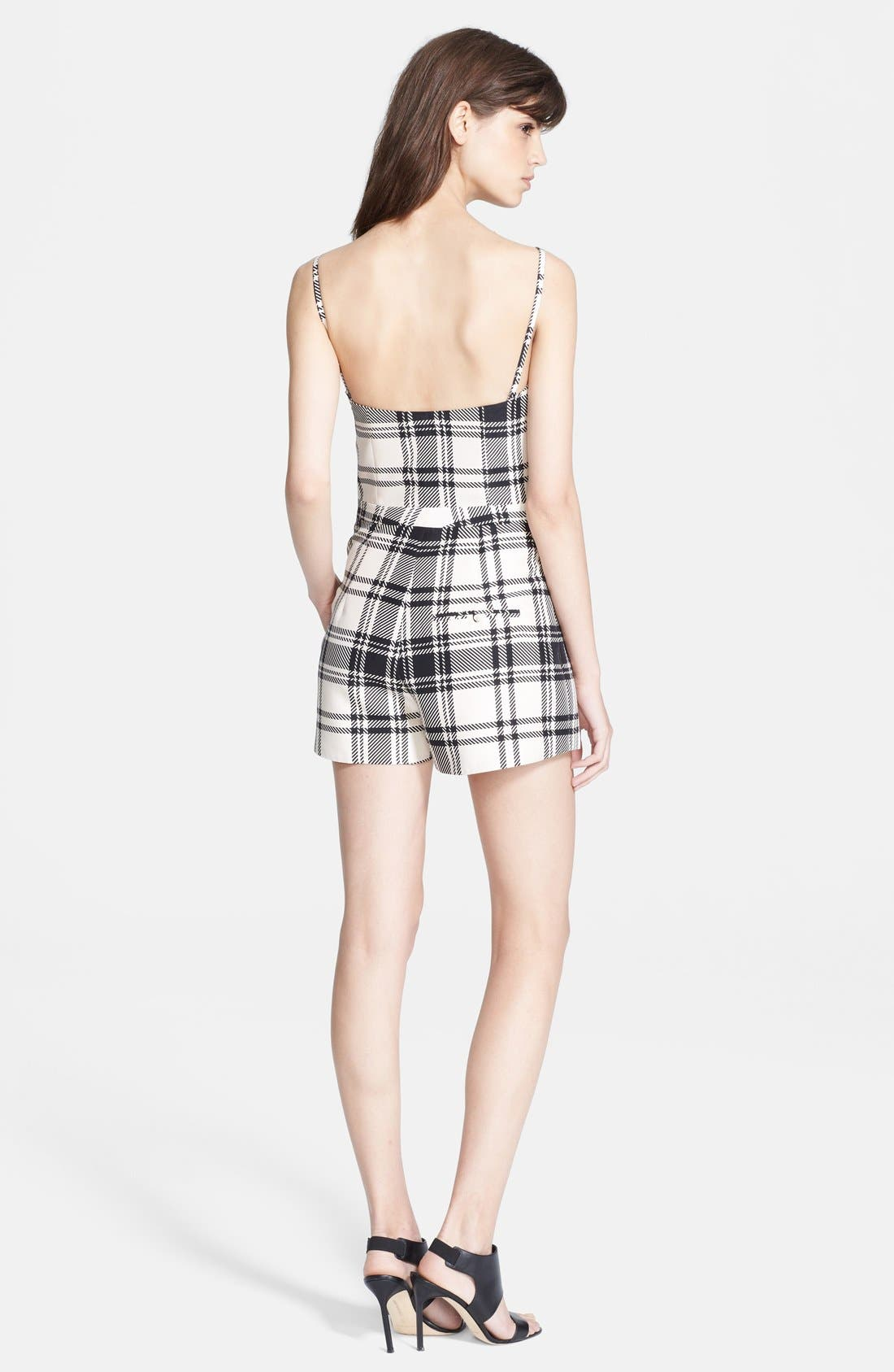 Alternate Image 2  - Haute Hippie Plaid Bustier Romper