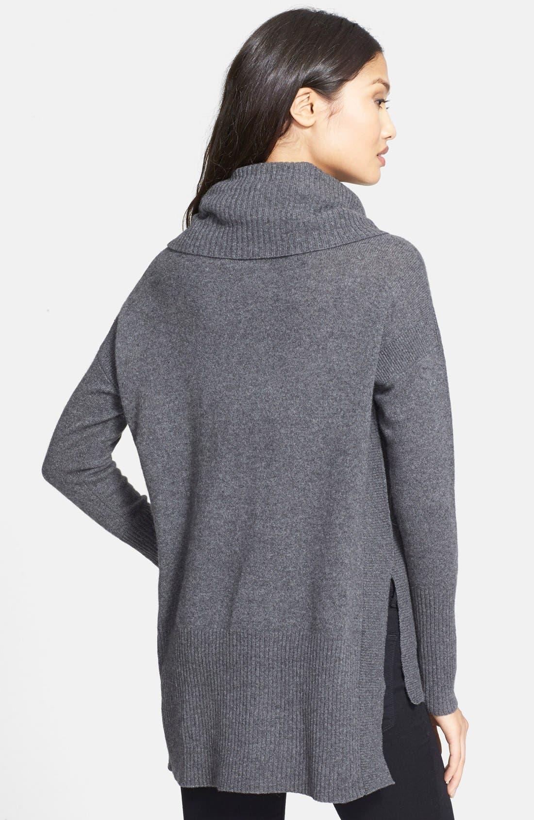 'Ahiga' Turtleneck Sweater,                             Alternate thumbnail 2, color,                             Medium Grey