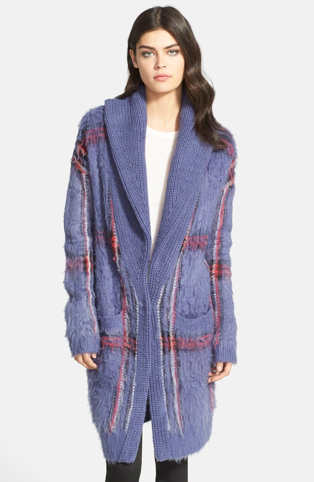Alternate Image 1 Selected - Chelsea28 Plaid Sweater Coat