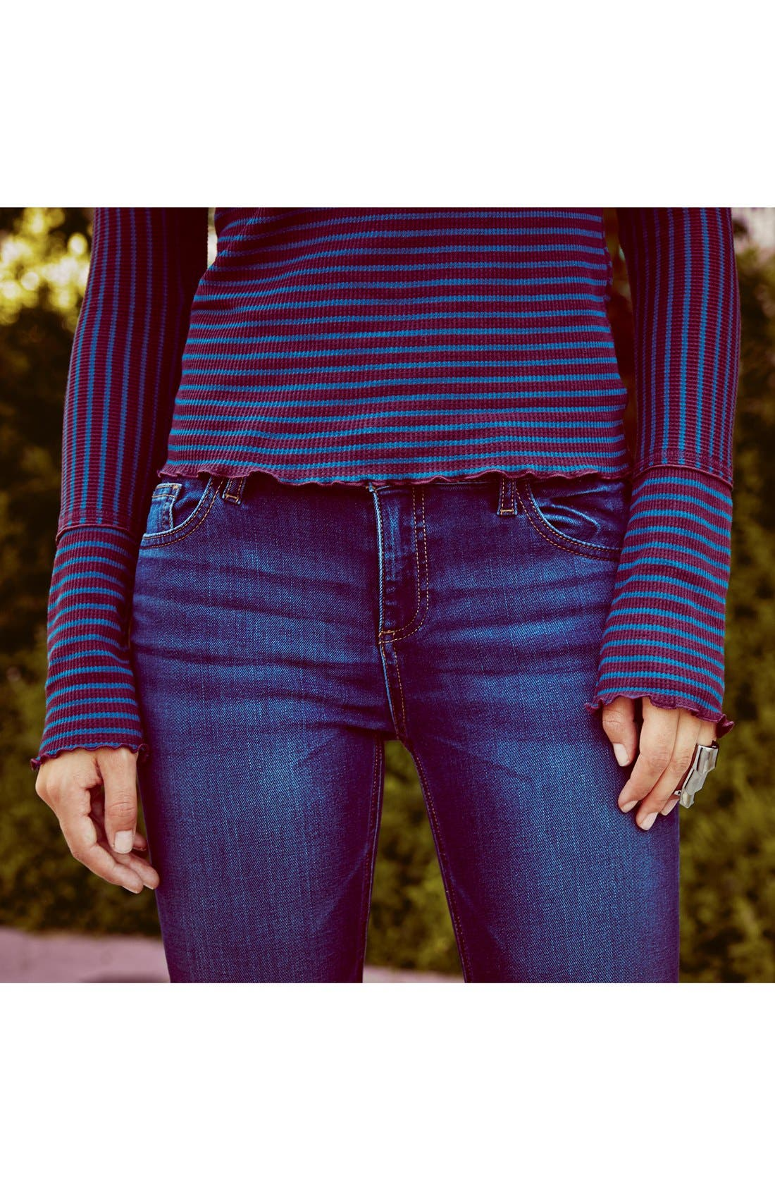 'Florence' Instasculpt Skinny Jeans,                             Alternate thumbnail 6, color,