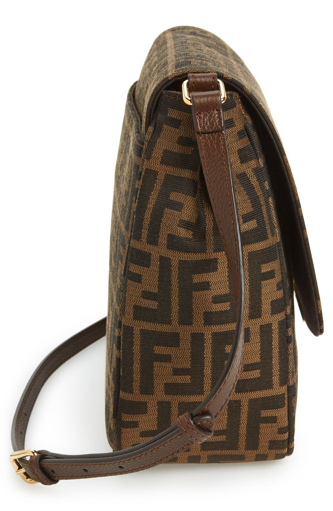 Alternate Image 5  - Fendi 'Zucca - Large' Logo Jacquard Crossbody Bag