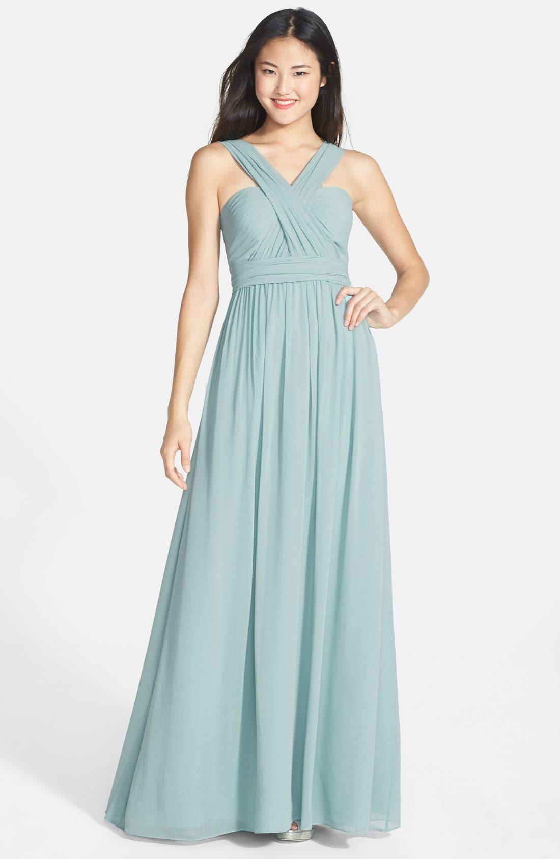 Alternate Image 8  - Jenny Yoo 'Aidan' Convertible Strapless Chiffon Gown