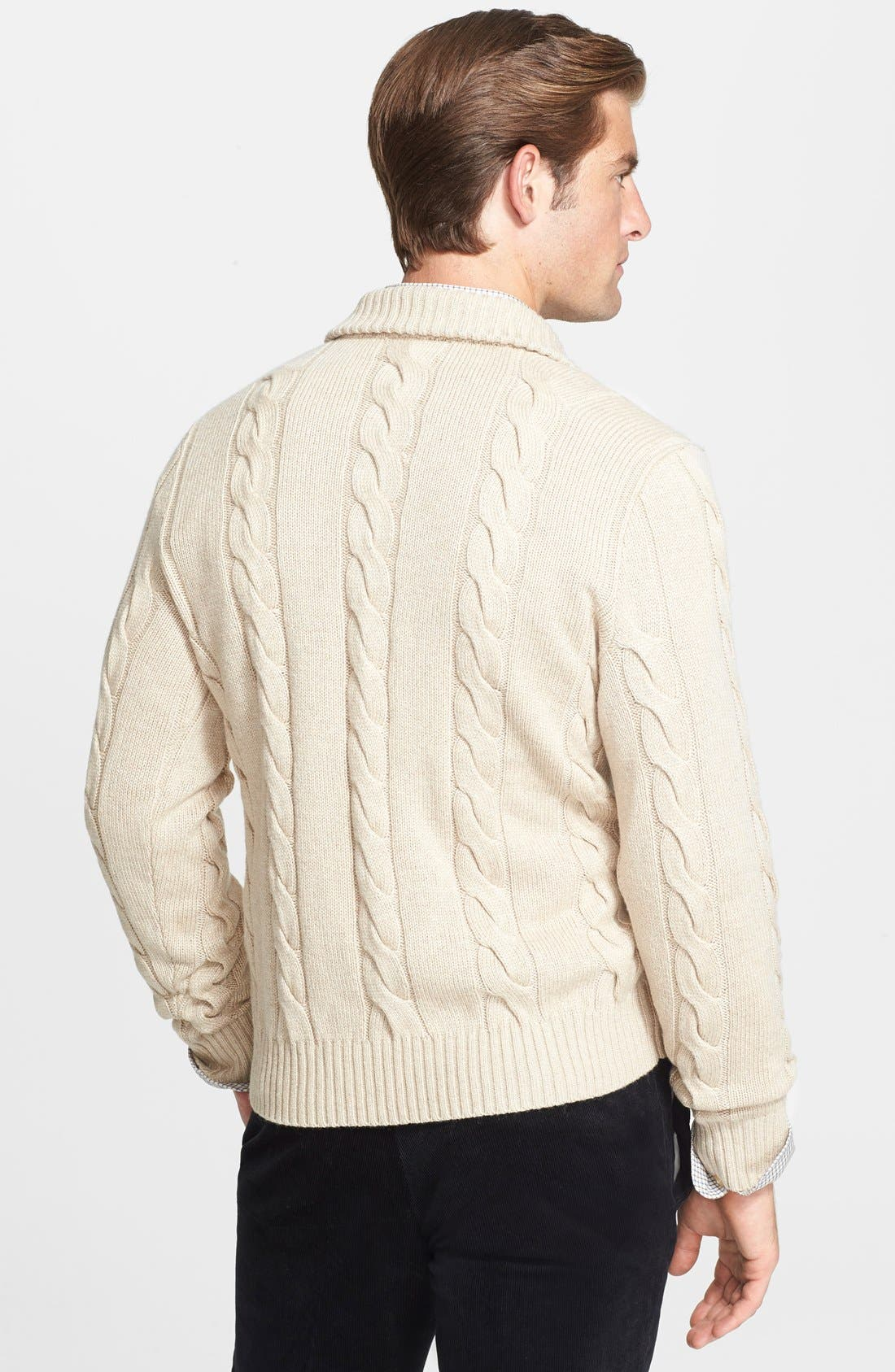 Alternate Image 2  - Polo Ralph Lauren Silk & Cashmere Cable Knit Sweater