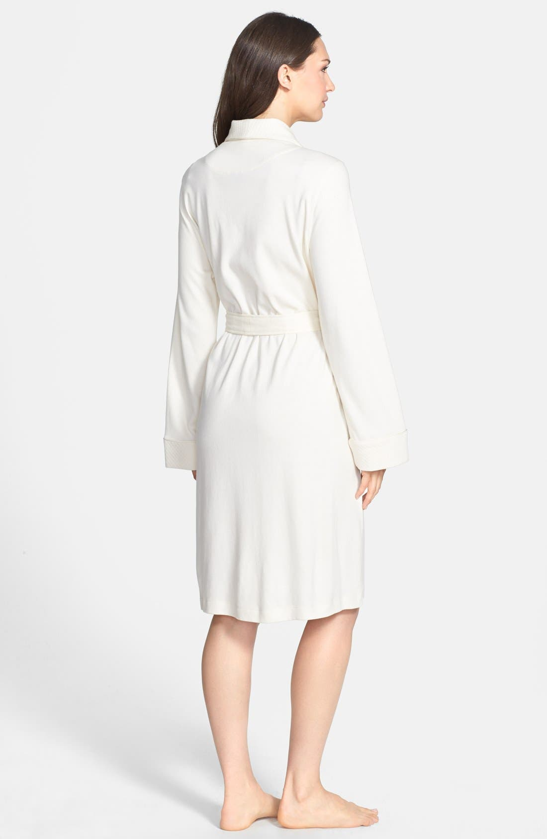 Alternate Image 2  - Lauren Ralph Lauren Quilted Collar Robe (Online Only)