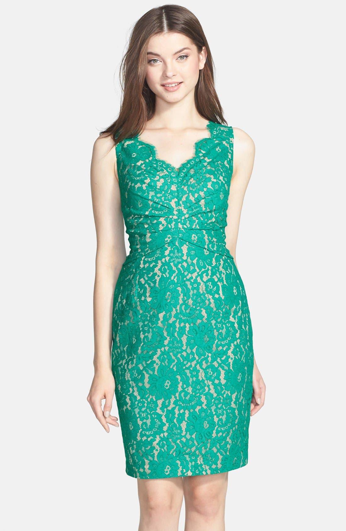 Main Image - Eliza J Sleeveless Lace Dress