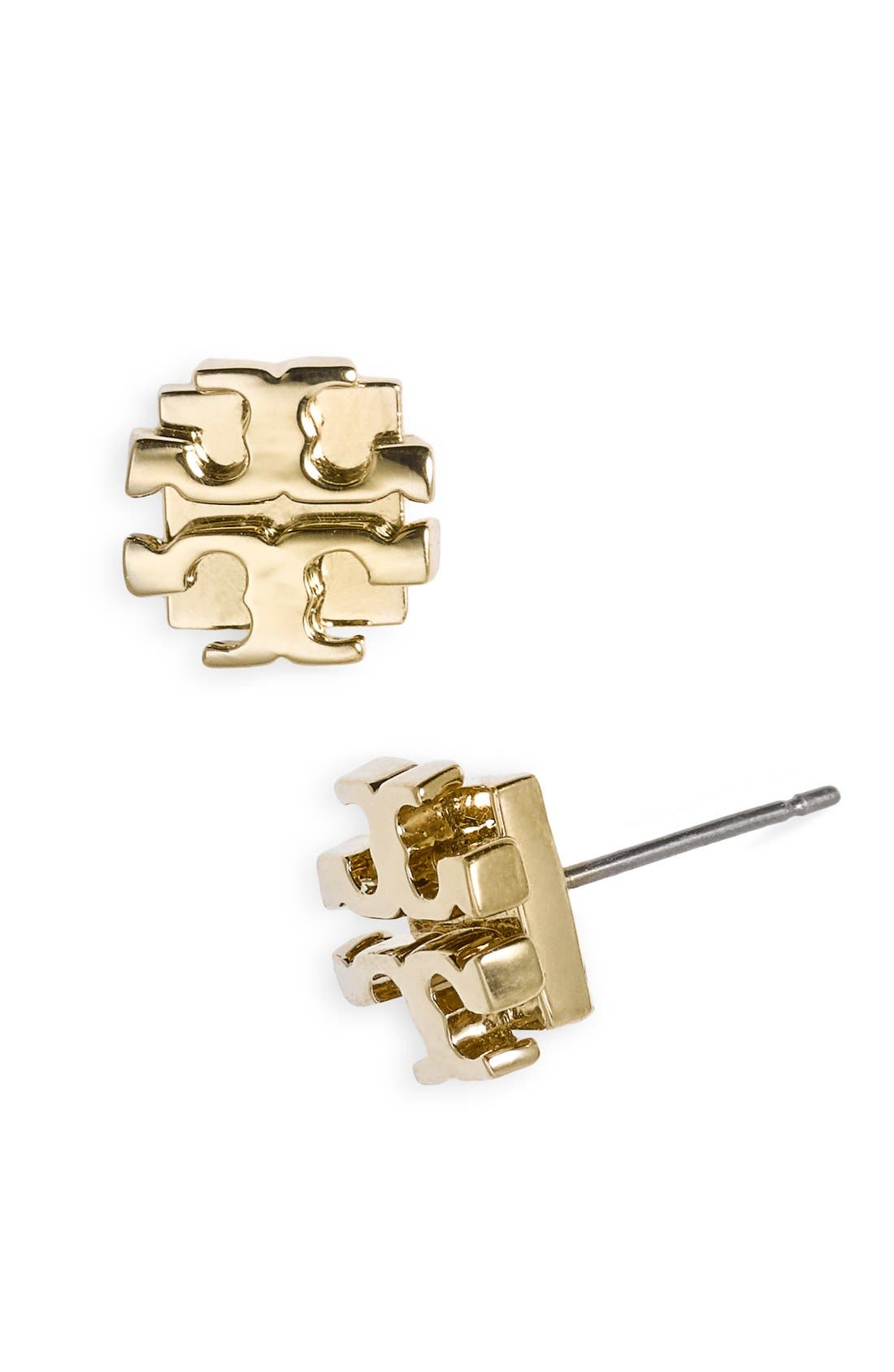 Alternate Image 1 Selected - Tory Burch Small Logo Stud Earrings