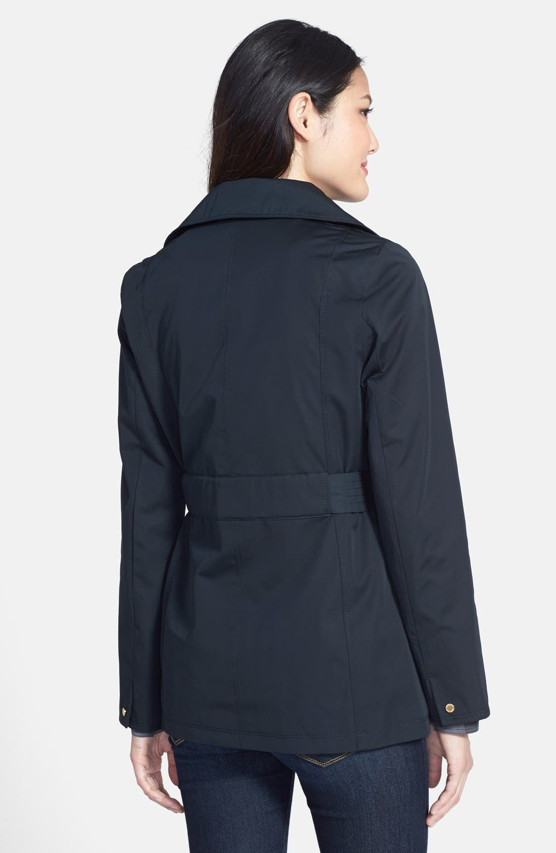 Alternate Image 2  - Ellen Tracy Belted Mini Trench Coat with Detachable Hood (Regular & Petite) (Nordstrom Exclusive)