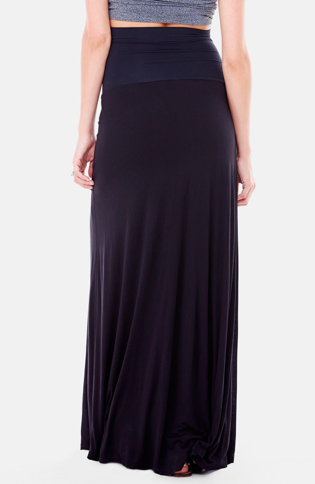 Alternate Image 2  - Ingrid & Isabel®'Flowy' Maxi Maternity Skirt