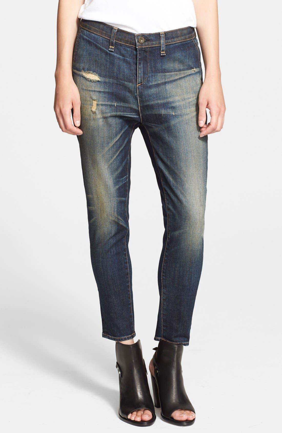 Alternate Image 1 Selected - rag & bone/JEAN Boyfriend Jeans (Mateos)