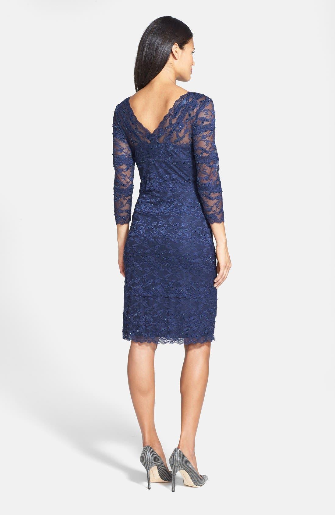 Alternate Image 4  - Marina Tiered Lace Dress