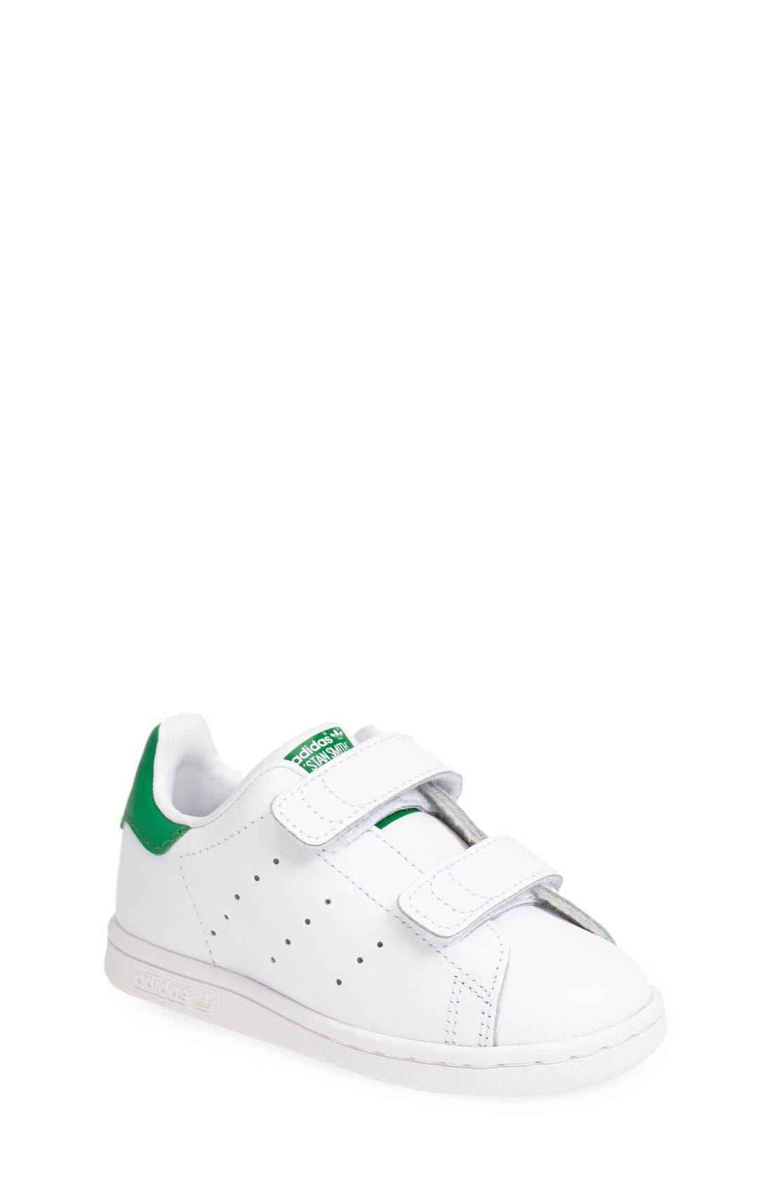 Main Image - adidas \u0027Stan Smith\u0027 Leather Sneaker (Baby, Walker \u0026 Toddler