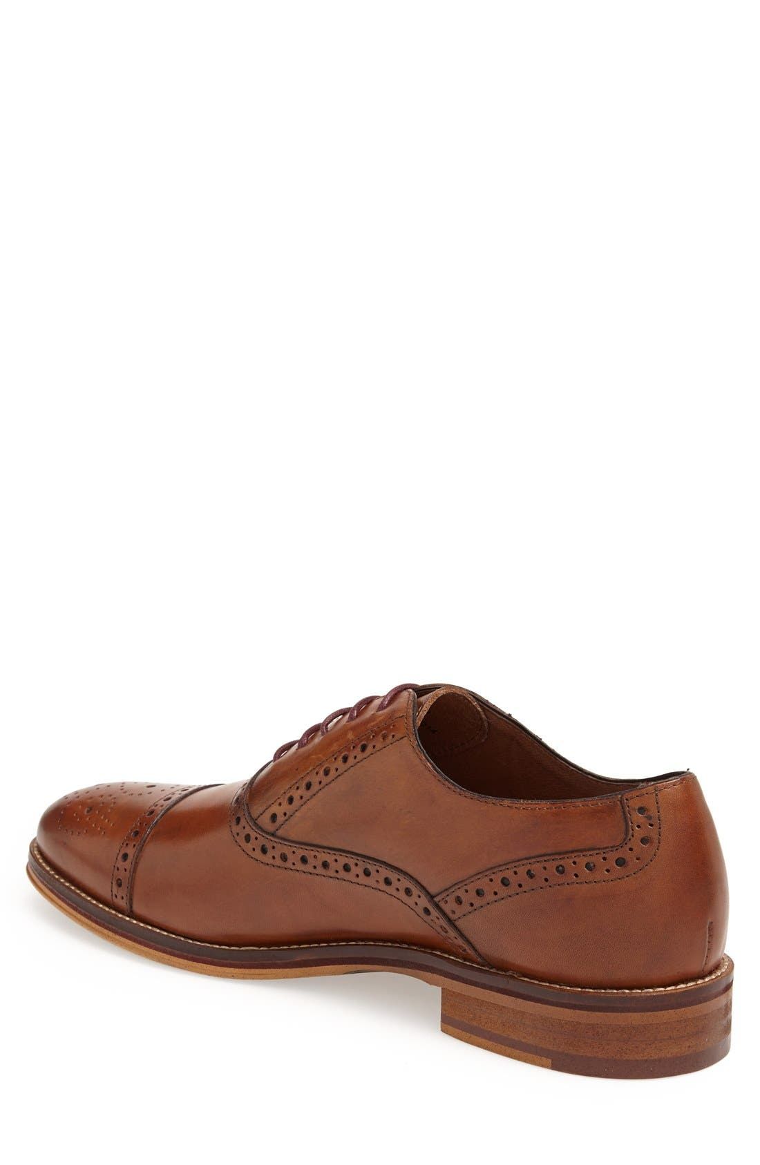 Alternate Image 2  - Johnston & Murphy Conard Cap Toe Oxford (Men)