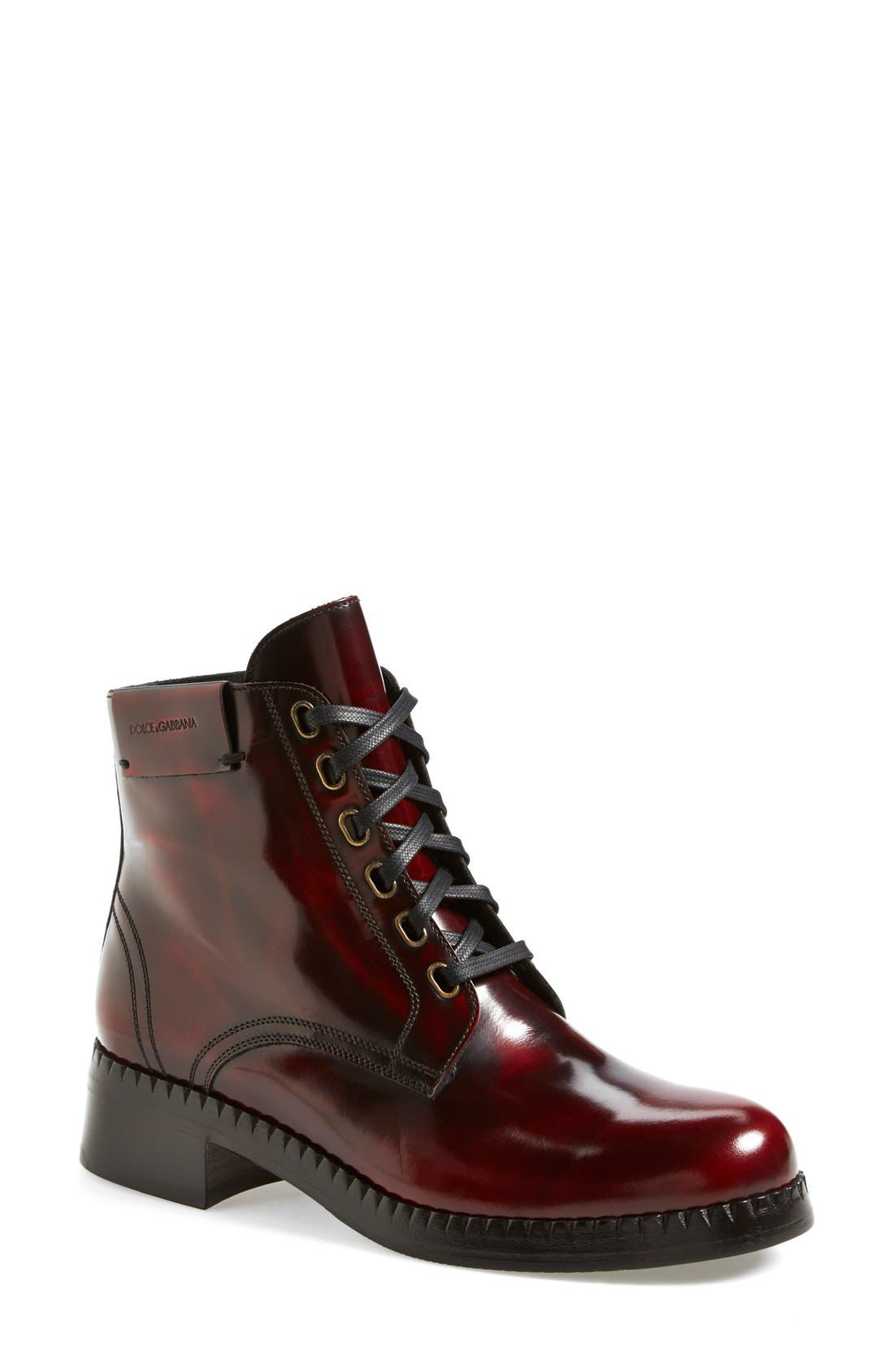 Alternate Image 1 Selected - Dolce&Gabbana Lace-Up Ankle Boot (Women)