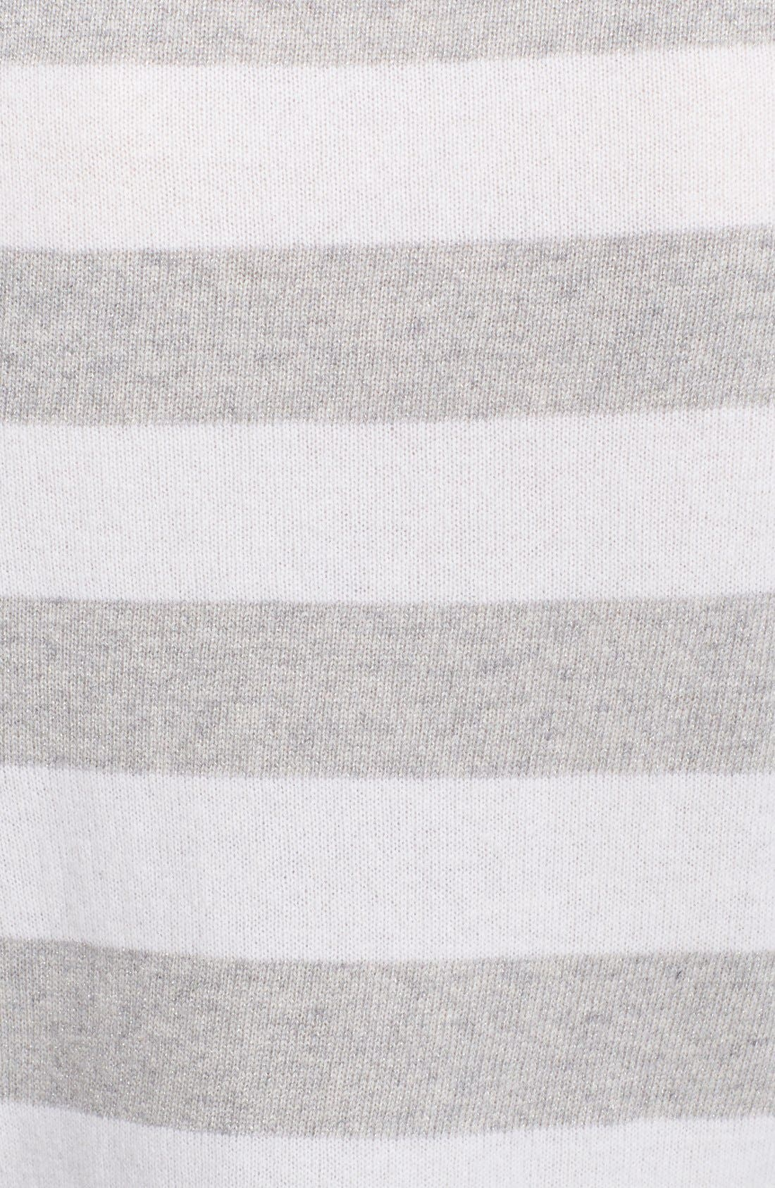 Alternate Image 3  - Equipment 'Sloane' Metallic Stripe Cashmere Sweater