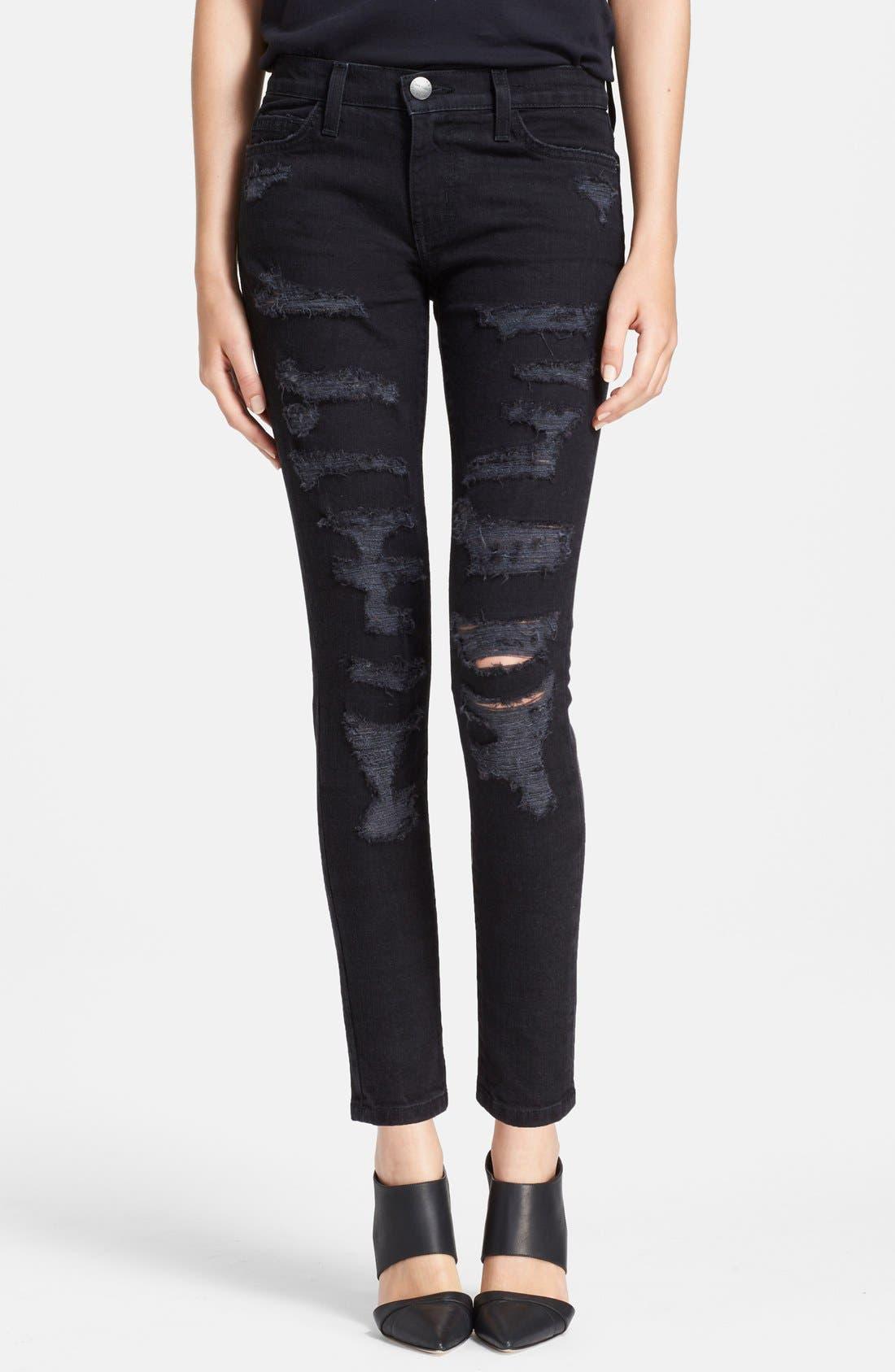 Main Image - Current/Elliott 'The Stiletto' Destroyed Skinny Jeans