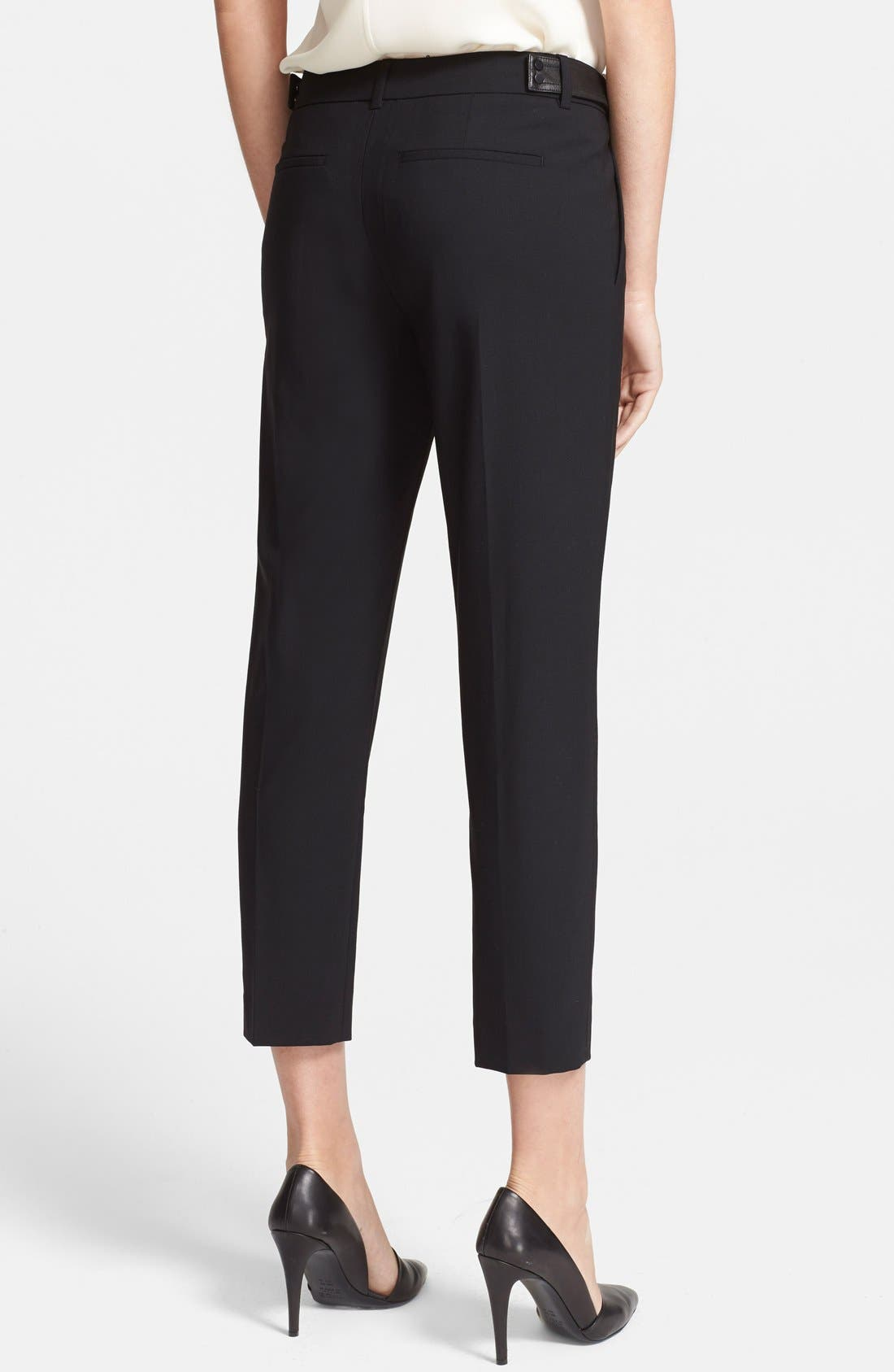 Alternate Image 2  - Vince Leather Tab Pintuck Crop Trousers