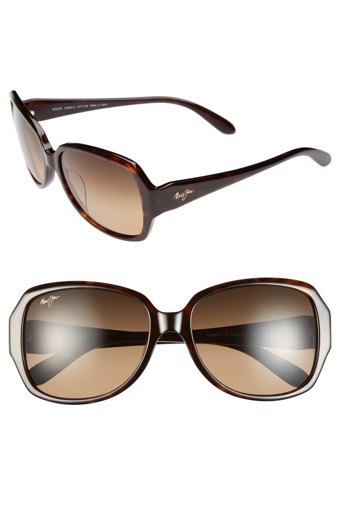 MAUI JIM Kalena 57mm PolarizedPlus<sup>®</sup> Sunglasses