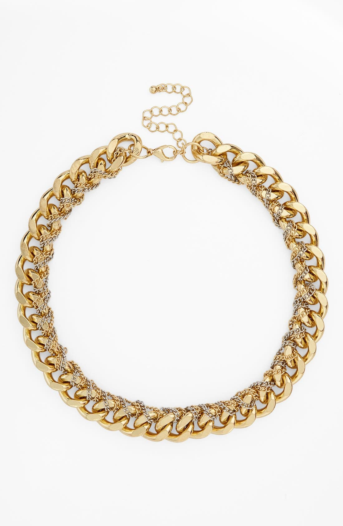 Chunky Chain Link Necklace,                         Main,                         color, Gold