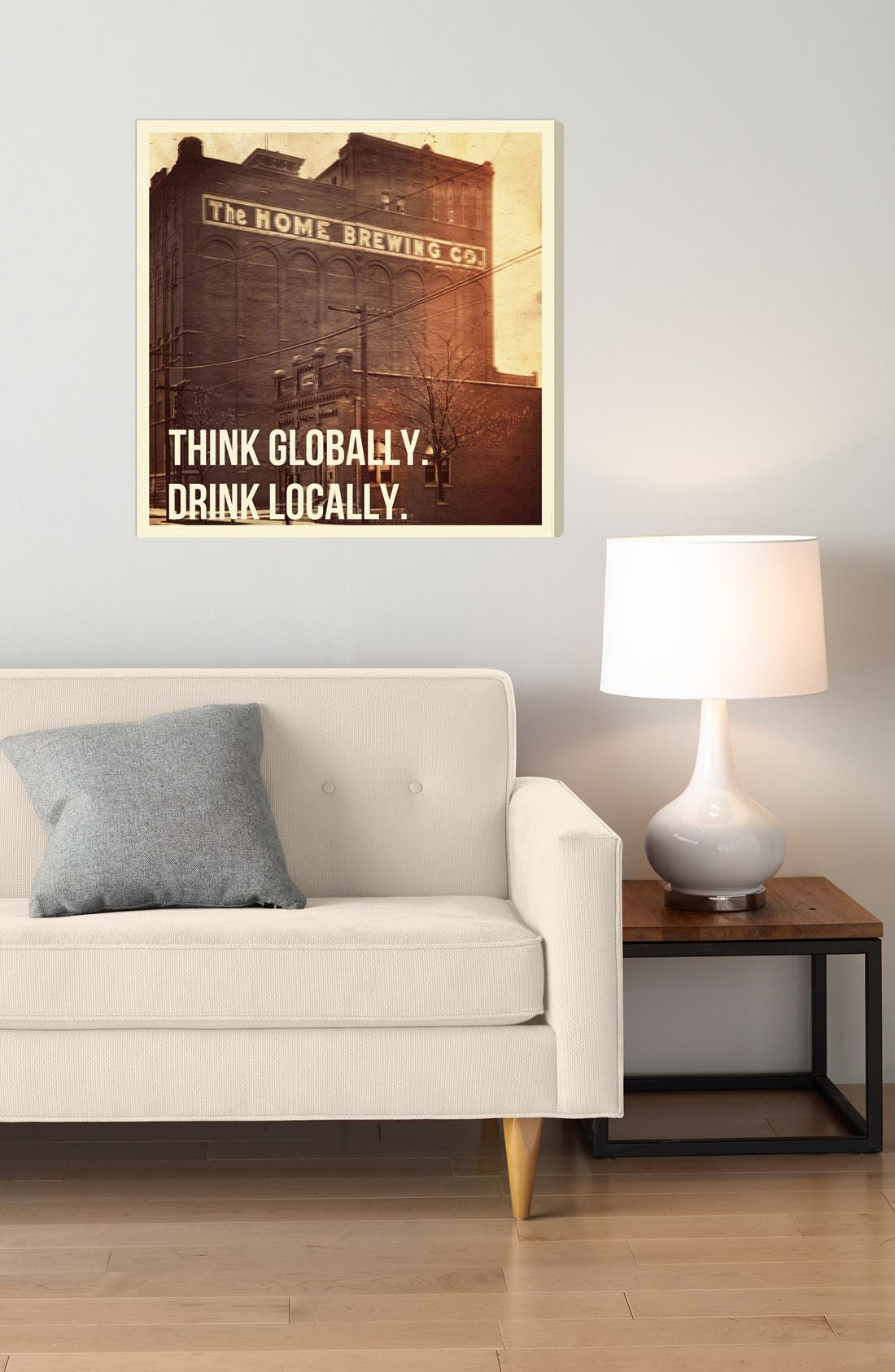 Alternate Image 2  - Oliver Gal 'Think Globally. Drink Locally.' Wall Art