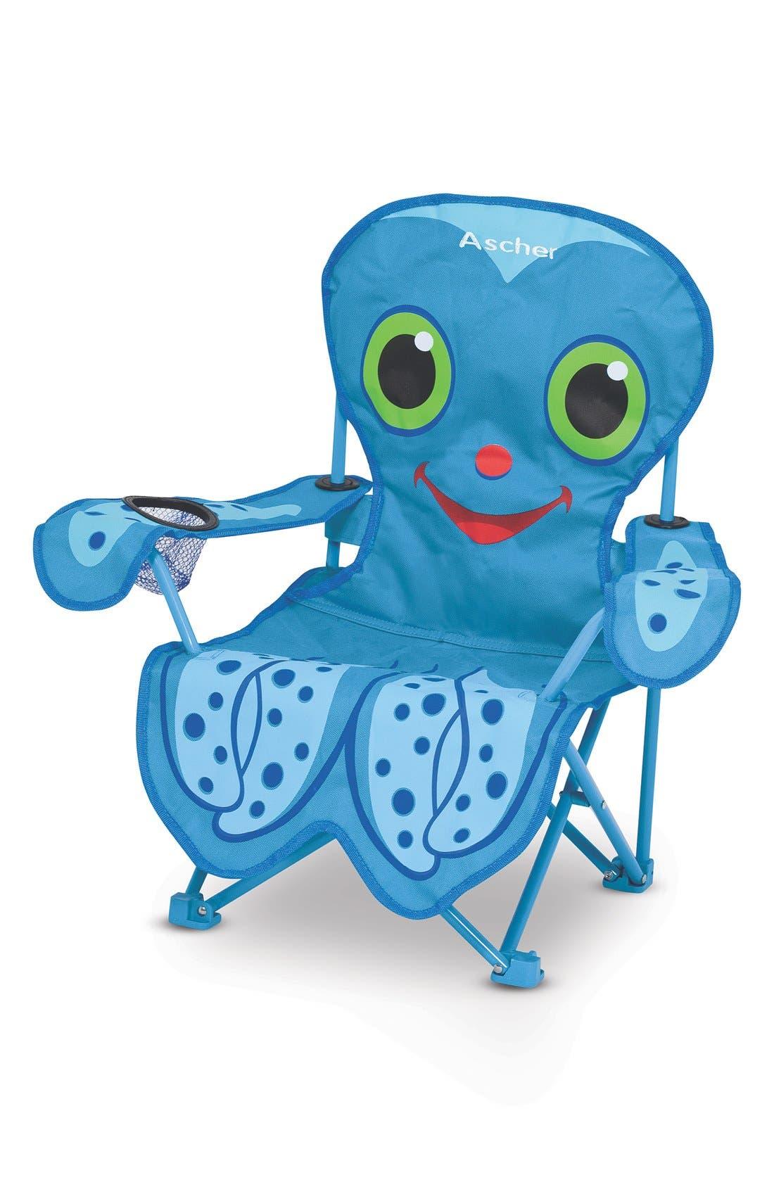 'Flex Octopus' Personalized Folding Chair,                             Main thumbnail 1, color,                             Blue