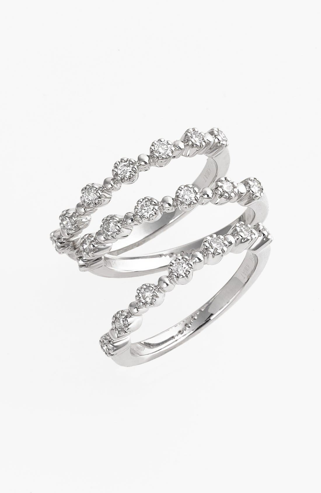 Main Image - Kwiat 'Stardust' Diamond Stackable Rings (Set of 3)
