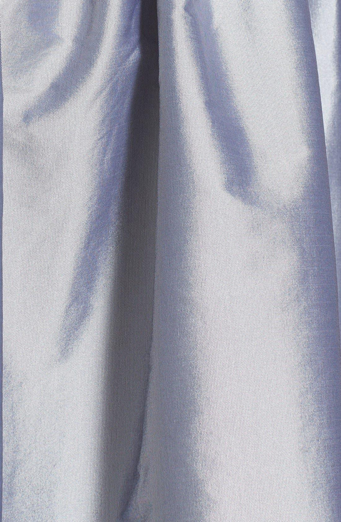Alternate Image 4  - Alfred Sung One-Shoulder Satin Fit & Flare Dress