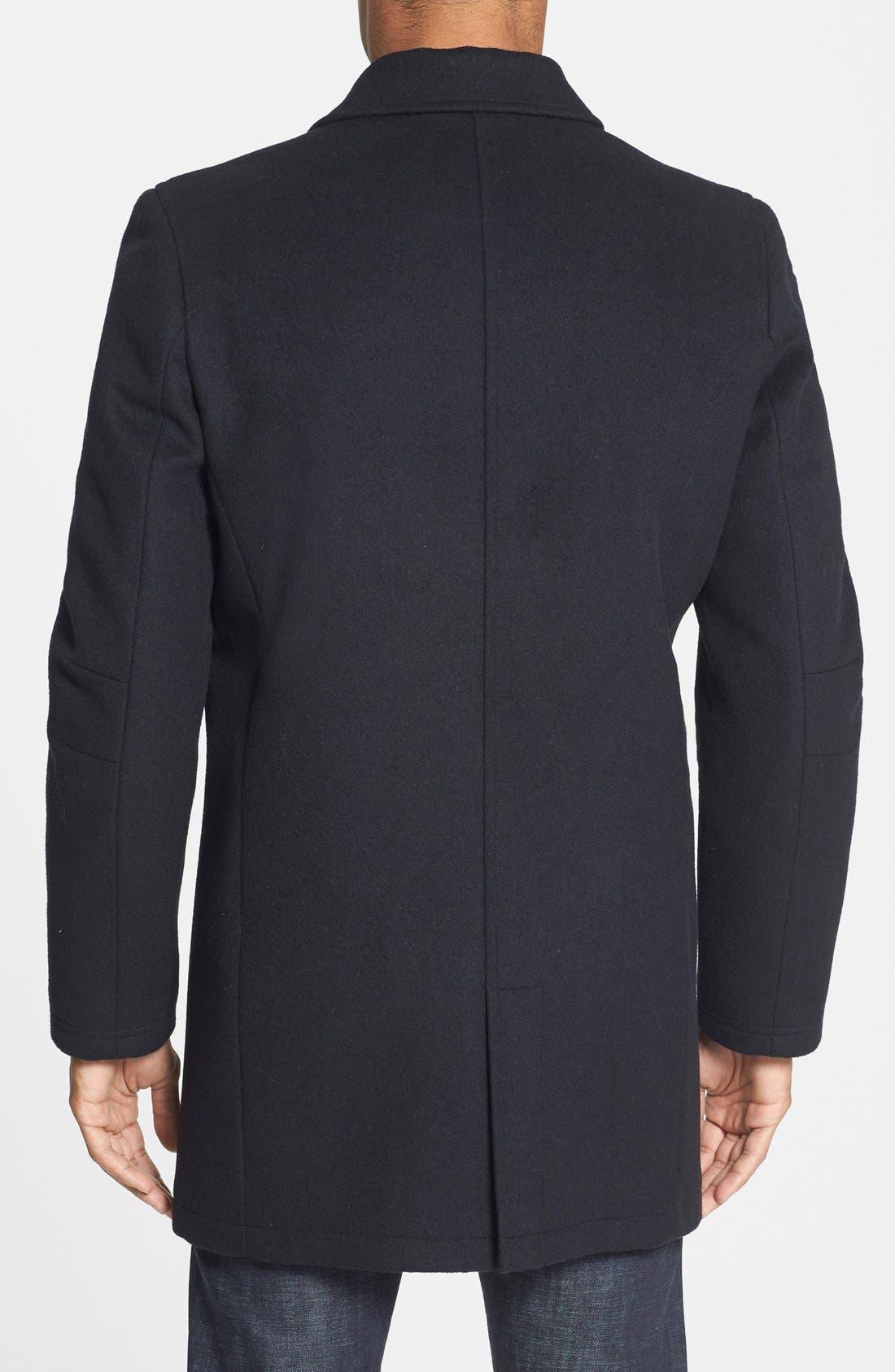 Alternate Image 2  - Vince Camuto Water Repellent Wool Blend Car Coat