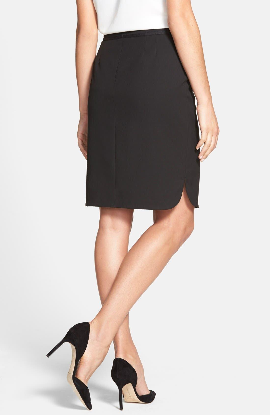 Alternate Image 2  - Jones New York 'Lucy' Ribbon Trim Pencil Skirt