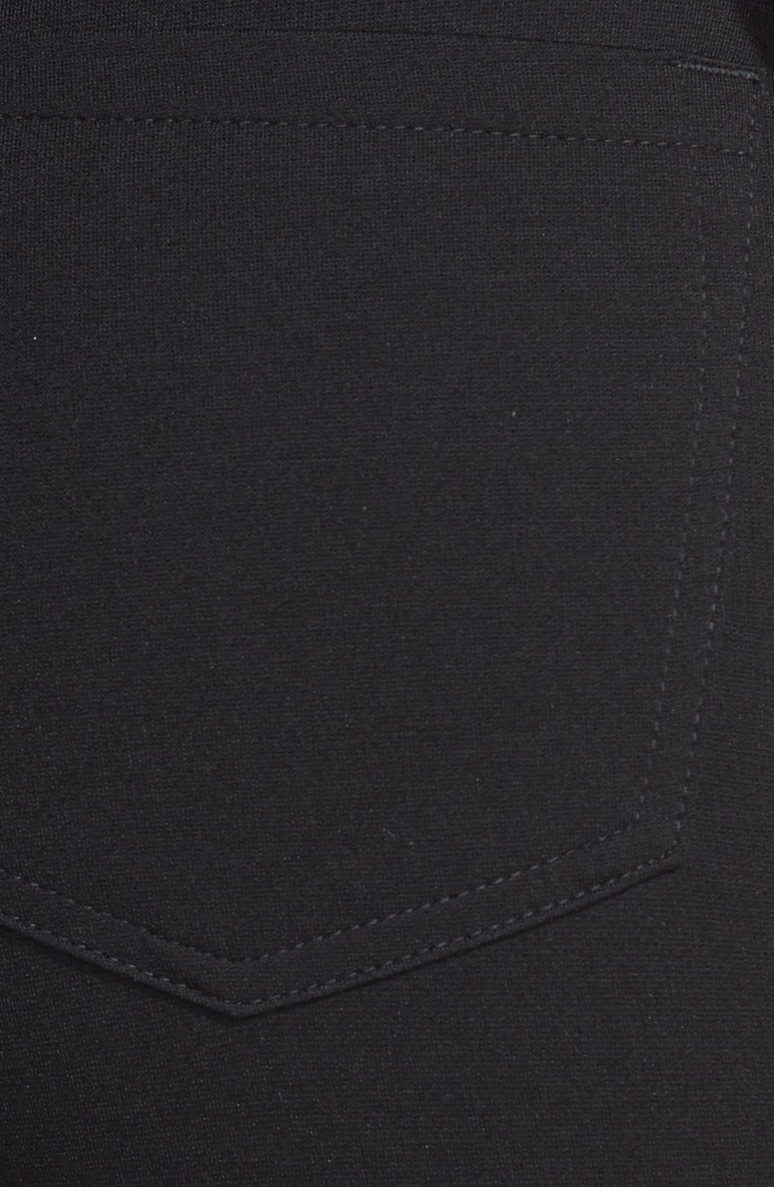 Ponte Skinny Pants,                             Alternate thumbnail 3, color,                             Black