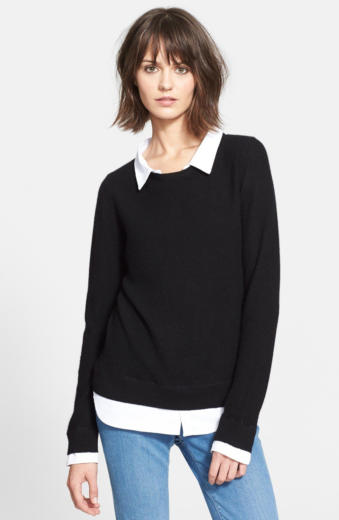 Main Image - Joie 'Rika' Layered Look Wool & Cashmere Sweater