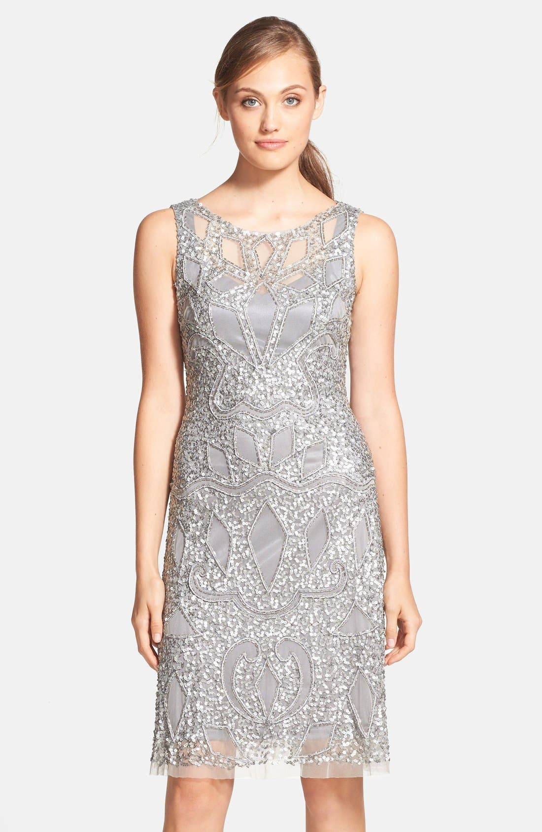 Main Image - Aidan Mattox Cutout Bodice Embellished Dress