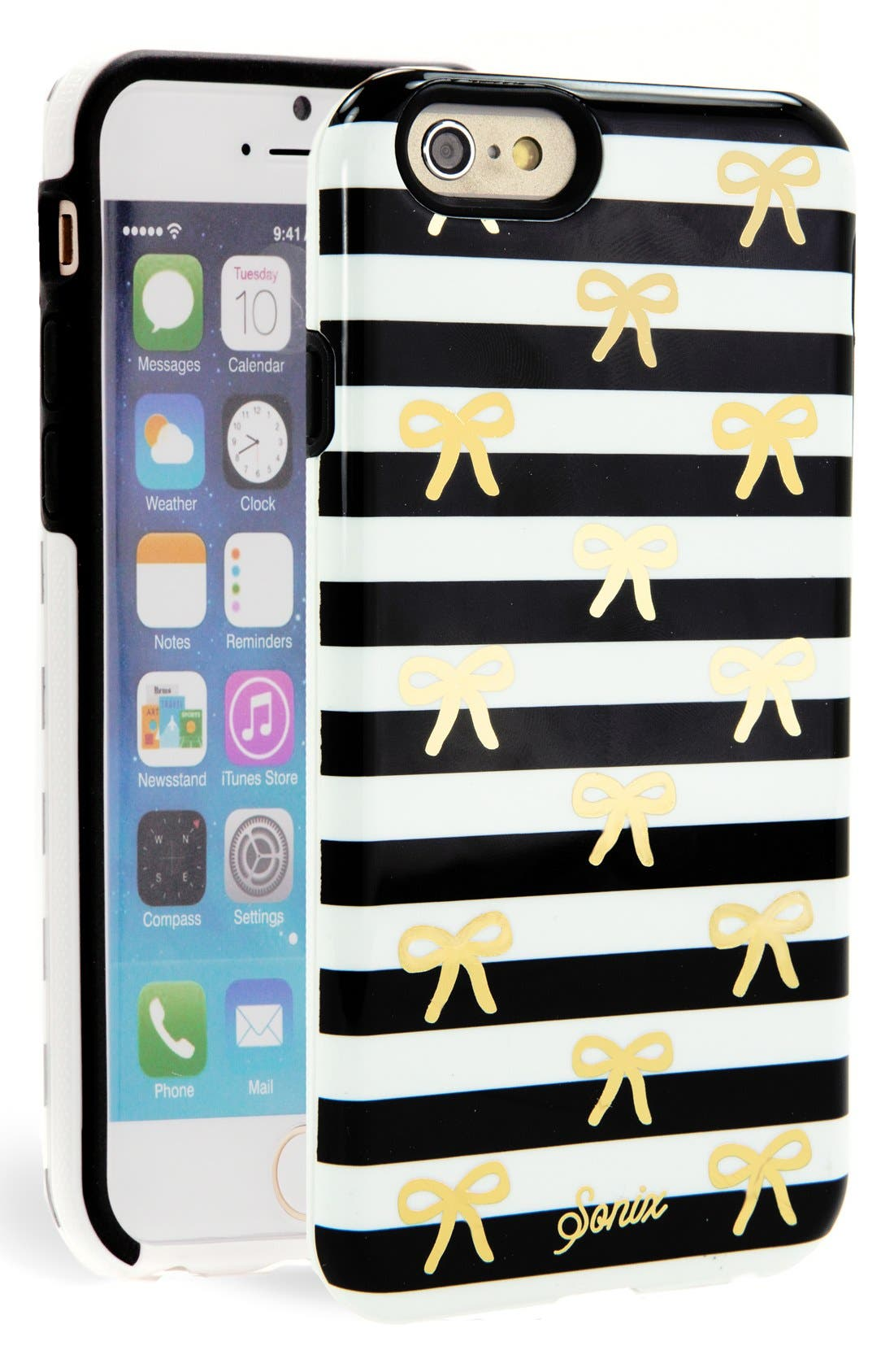 Alternate Image 1 Selected - Sonix 'Bow Stripe' iPhone 6 Case