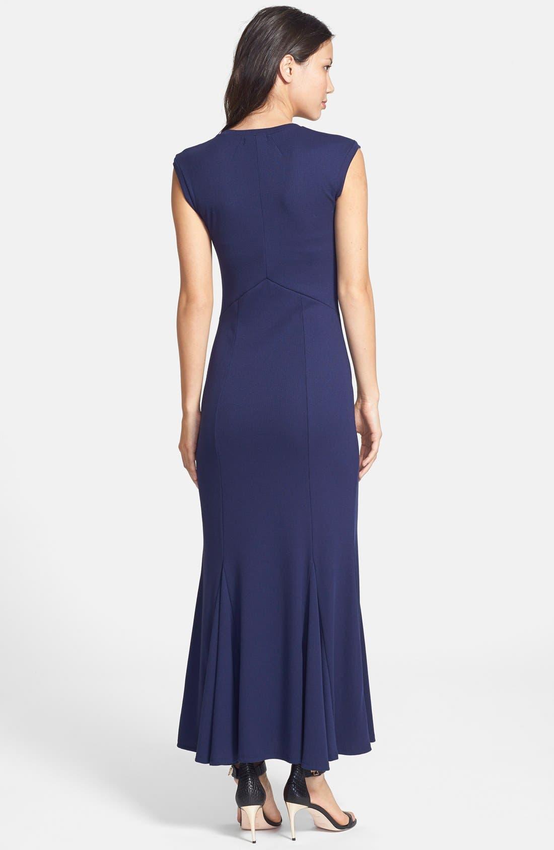 'Amber' Scoop Neck Maxi Dress,                             Alternate thumbnail 2, color,                             Navy
