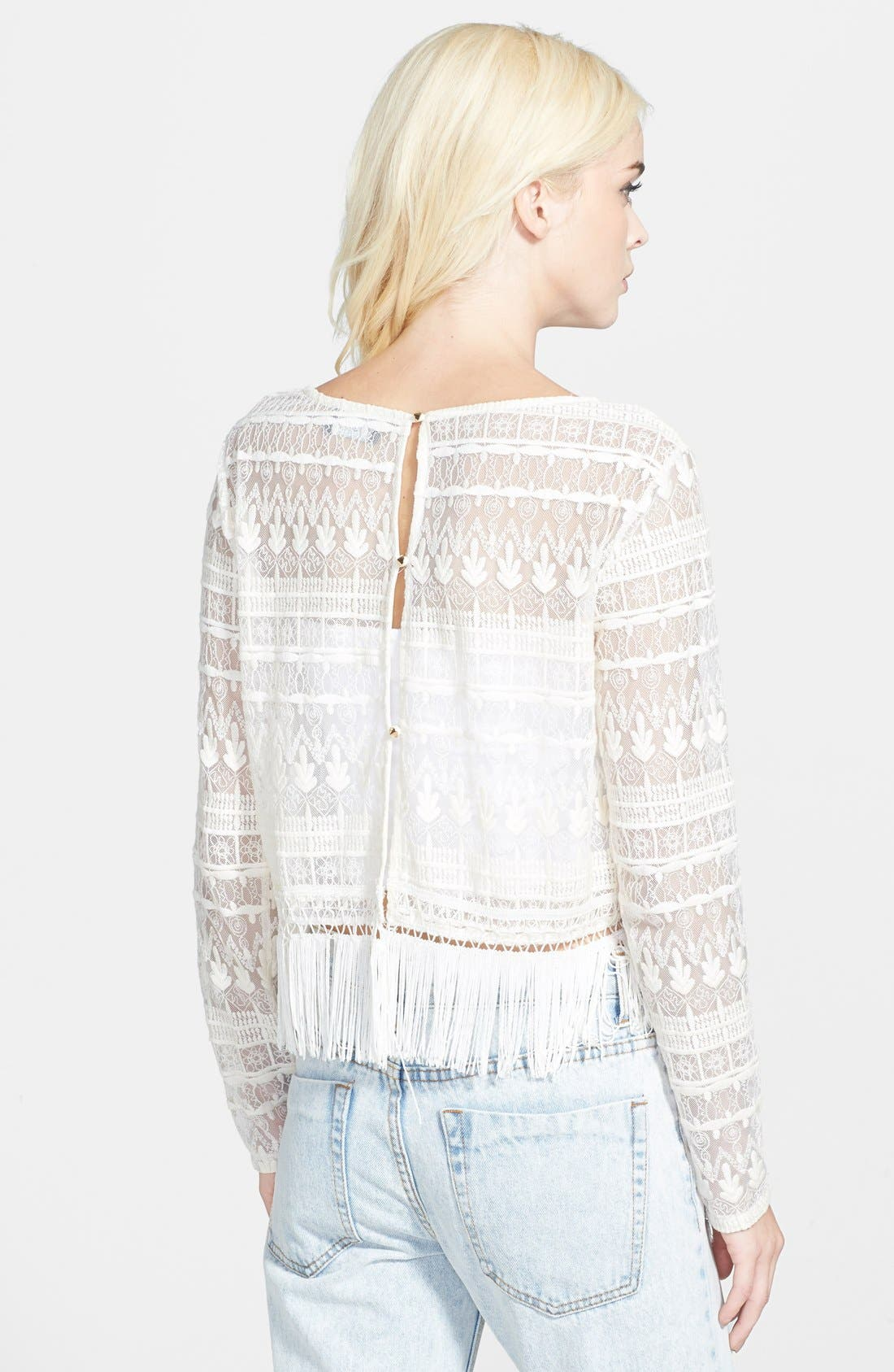 Alternate Image 2  - ASTR Long Sleeve Lace Top