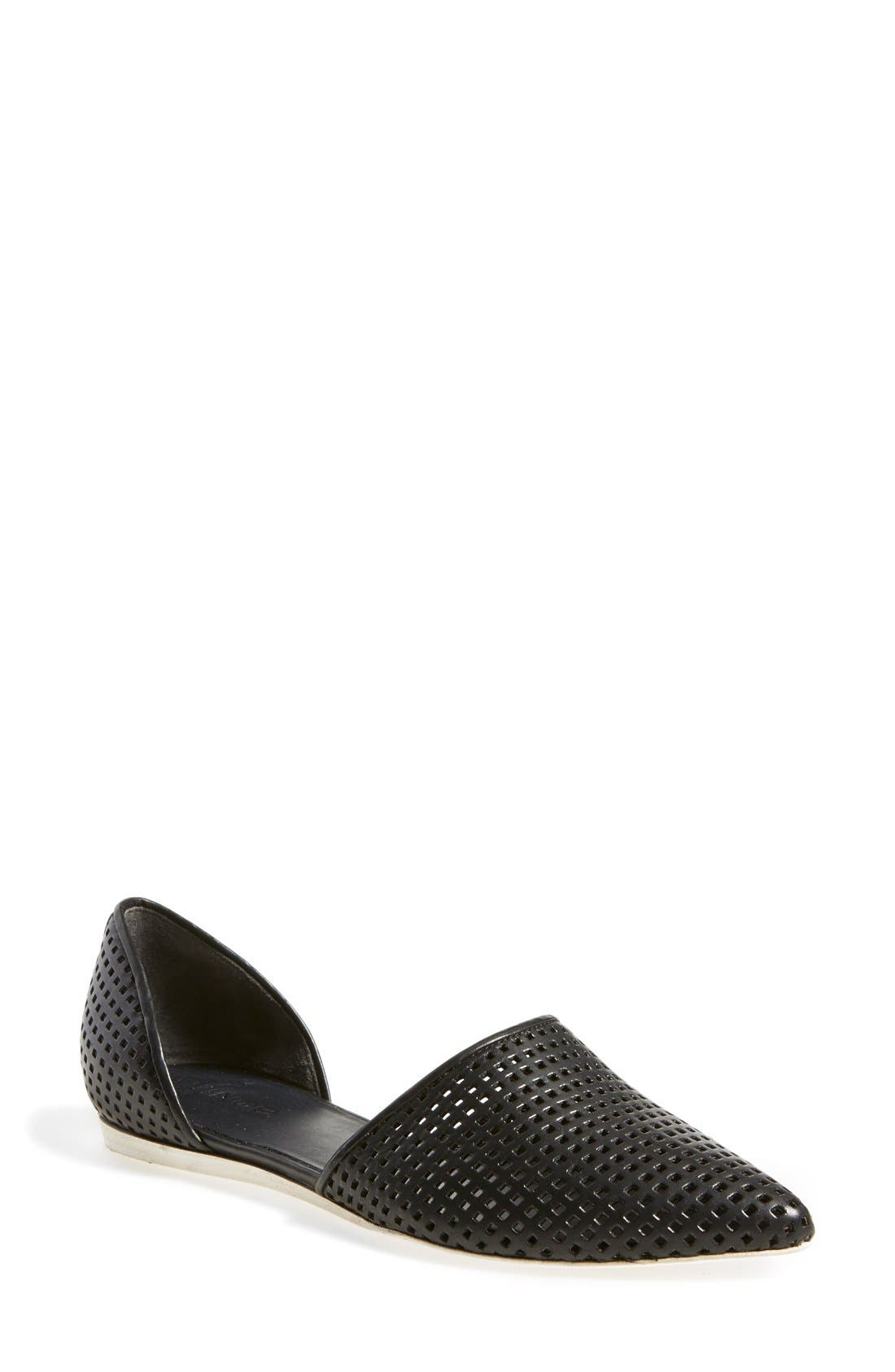 Main Image - Vince 'Nina 2' Perforated Leather D'Orsay Flat (Women)