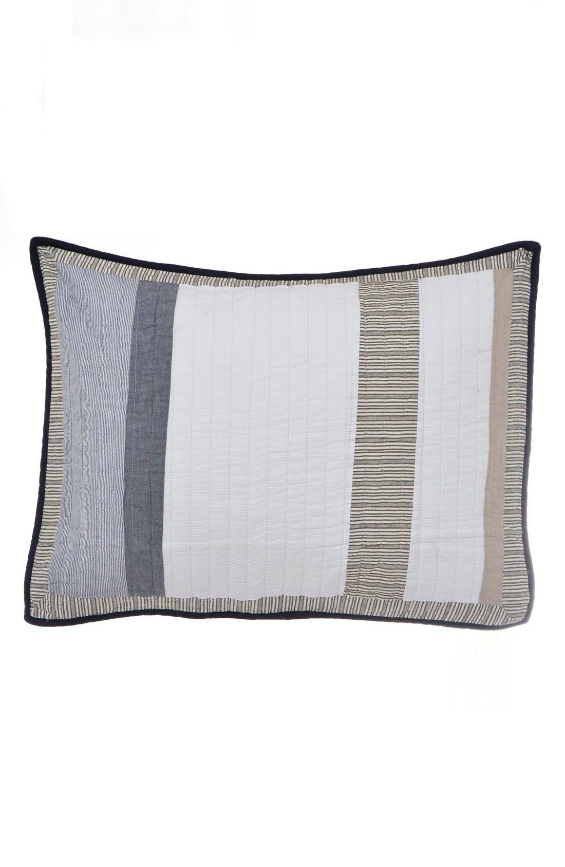 'Tideway' Quilted Standard Sham,                         Main,                         color, Grey/ Khaki