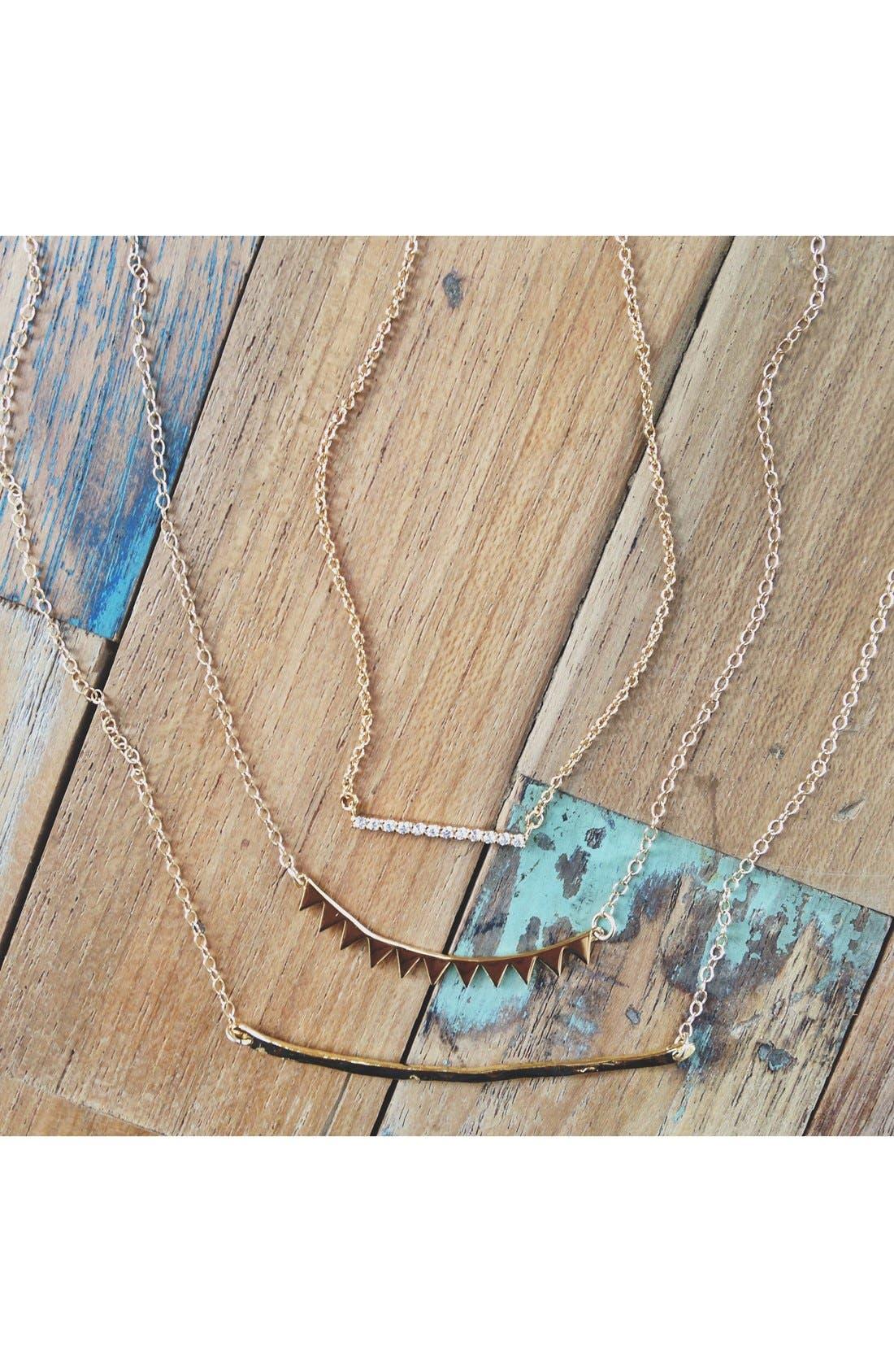 Alternate Image 4  - gorjana 'Knox' Pavé Bar Necklace