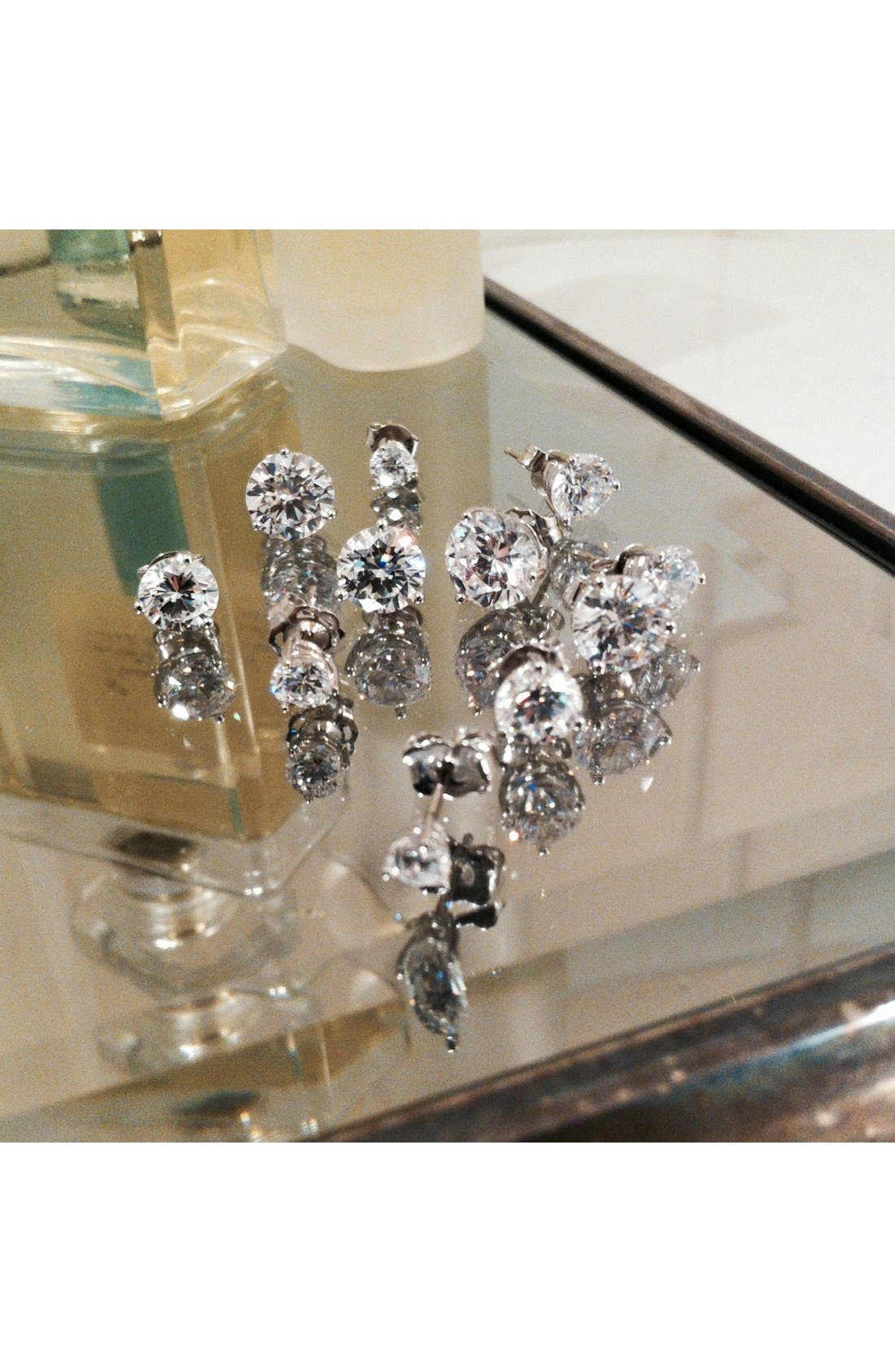 Alternate Image 4  - Nordstrom Precious Metal Plated 3ct tw Cubic Zirconia Earrings