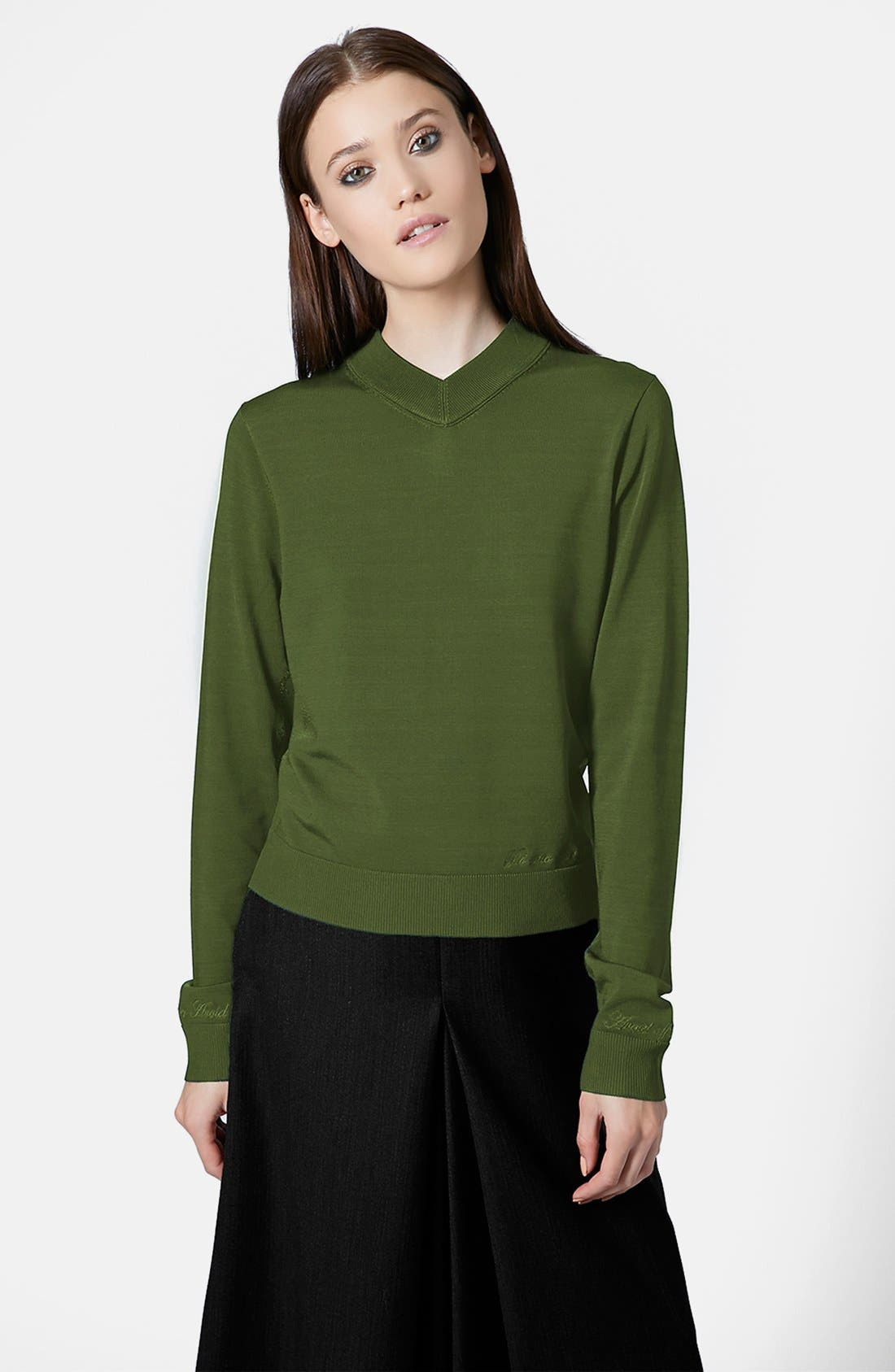 Alternate Image 1 Selected - Topshop Unique Long Sleeve V-Neck Sweater
