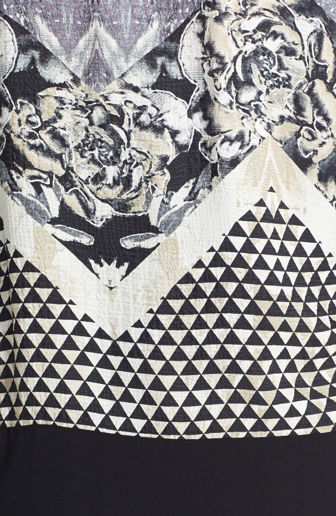 Alternate Image 3  - Citron Silk Kimono Jacket (Plus Size)