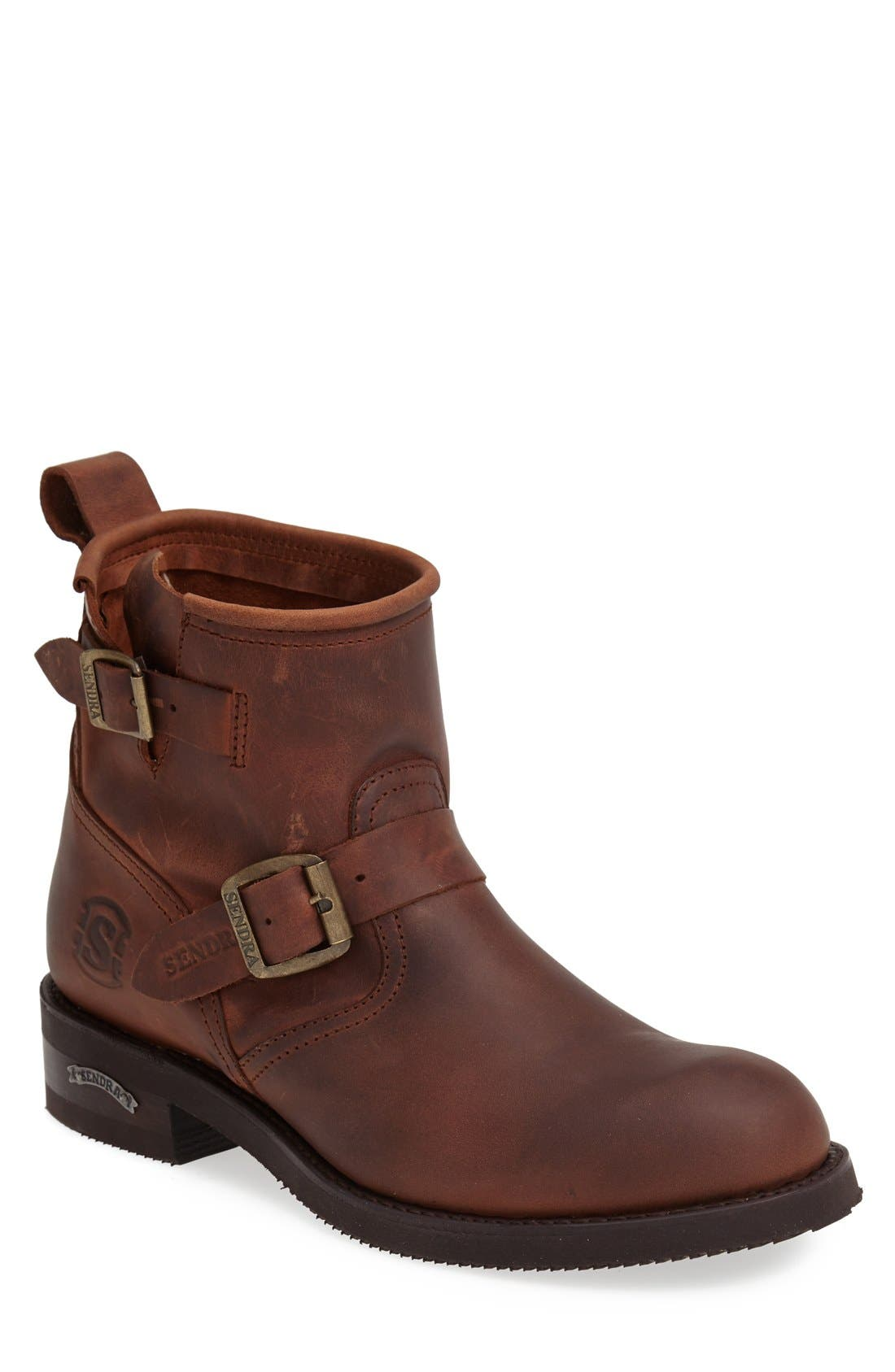 'Engineer' Harness Boot,                         Main,                         color, Brown