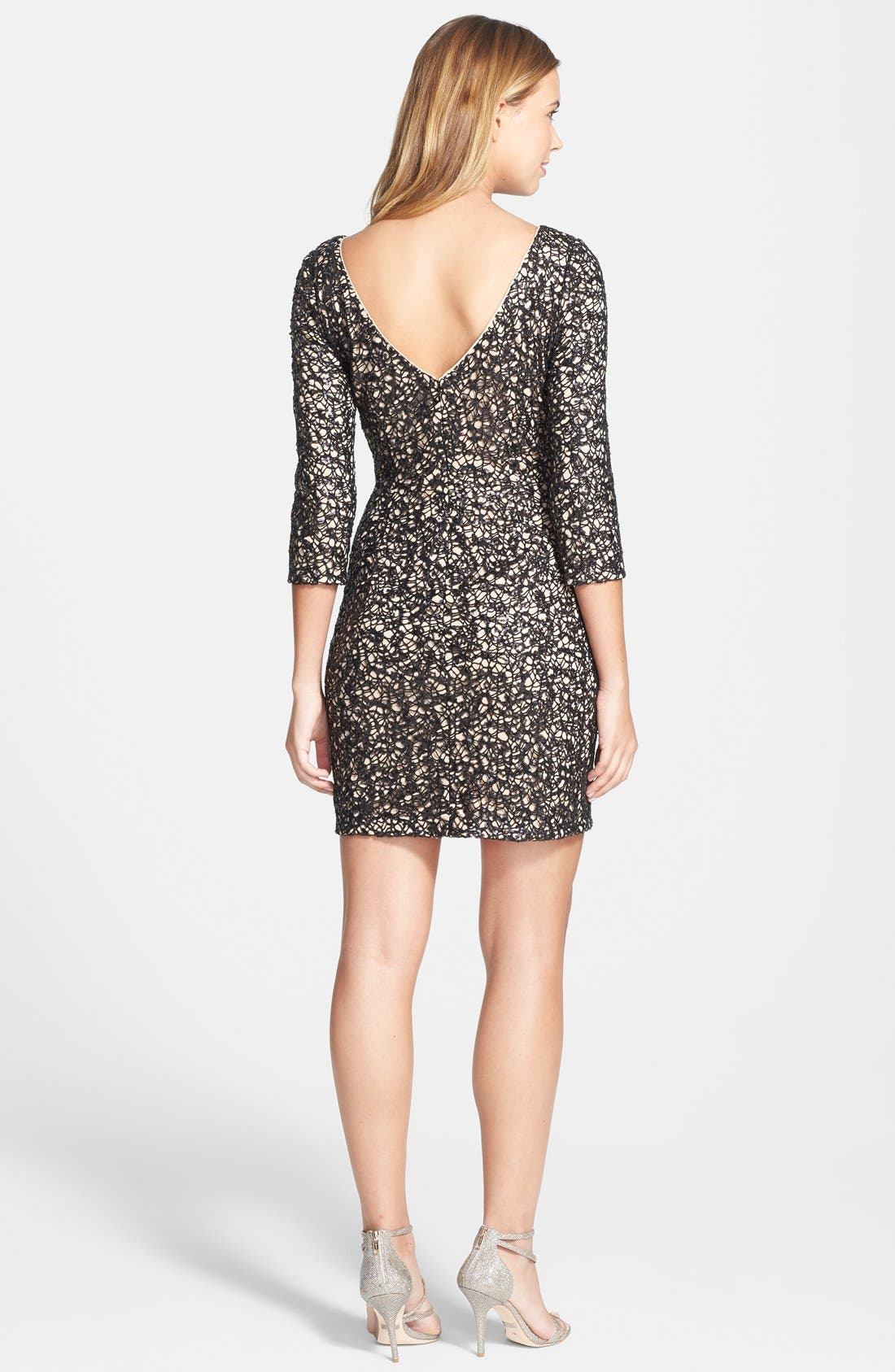 Alternate Image 2  - Aidan by Aidan Mattox Sequin Sheath Dress
